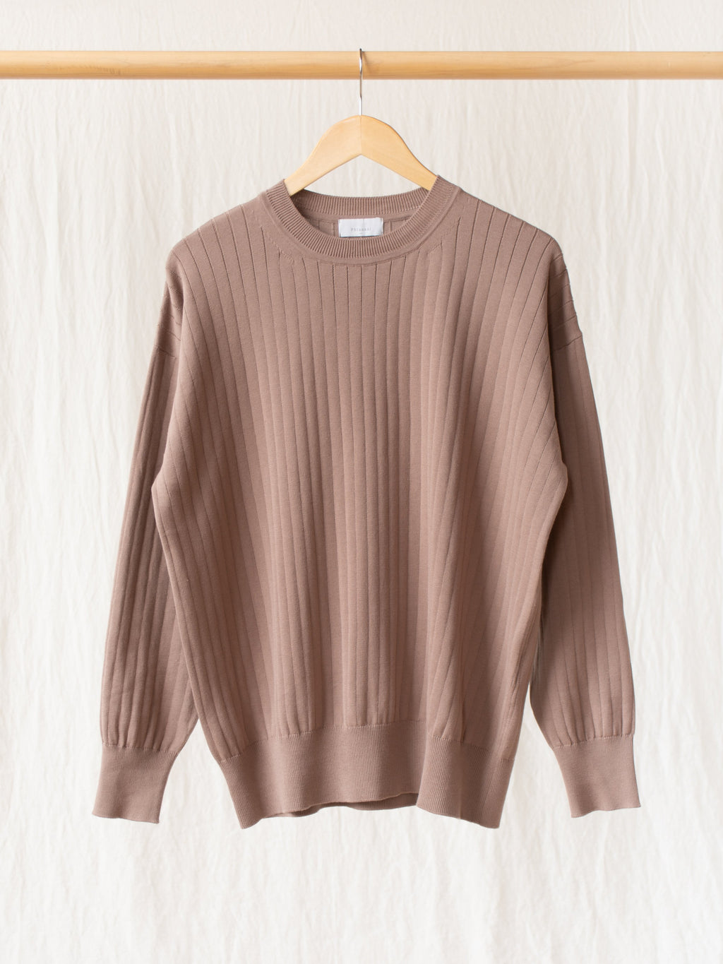 Namu Shop - Phlannel Suvin Cotton Wide Rib Knit - Brown