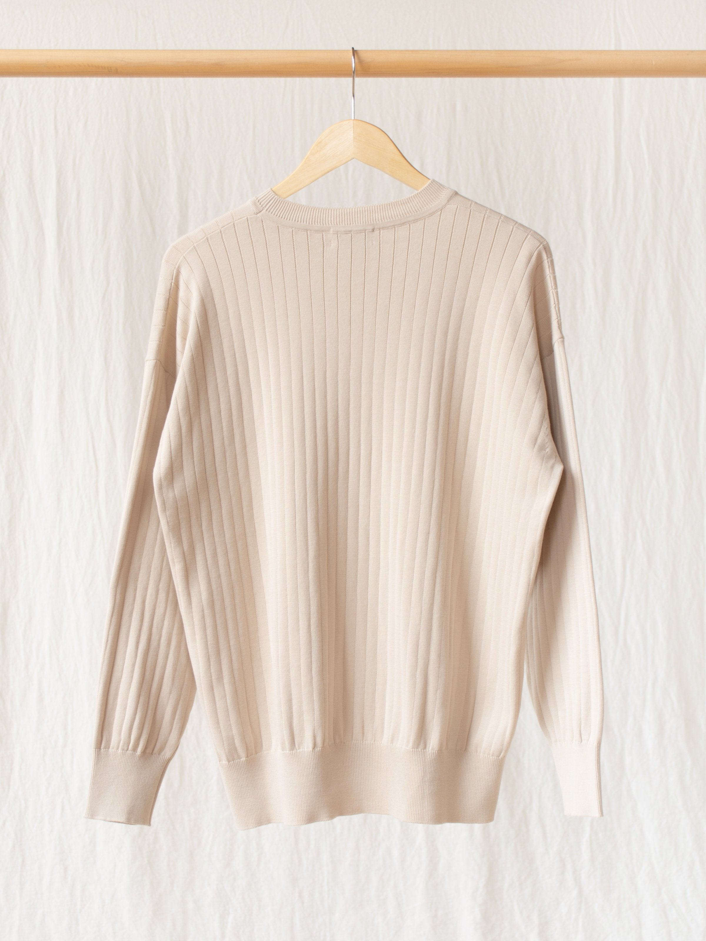 Namu Shop - Phlannel Suvin Cotton Wide Rib Knit - Beige