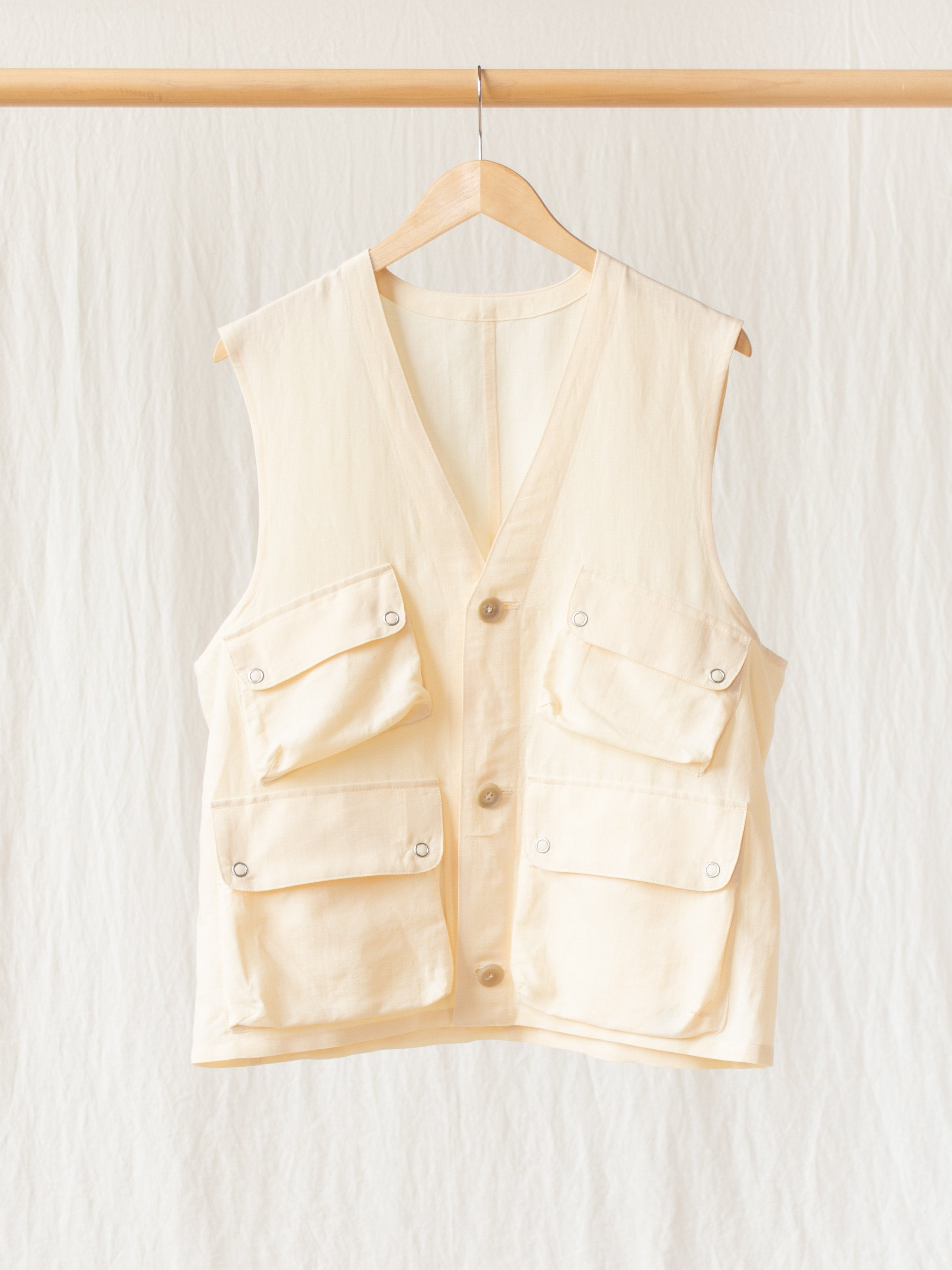 Namu Shop - Phlannel Linen Cotton Wool Twill Military Survival Vest