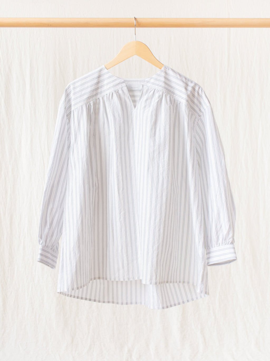 Namu Shop - Phlannel Cotton Silk Smock Shirt - Stripe