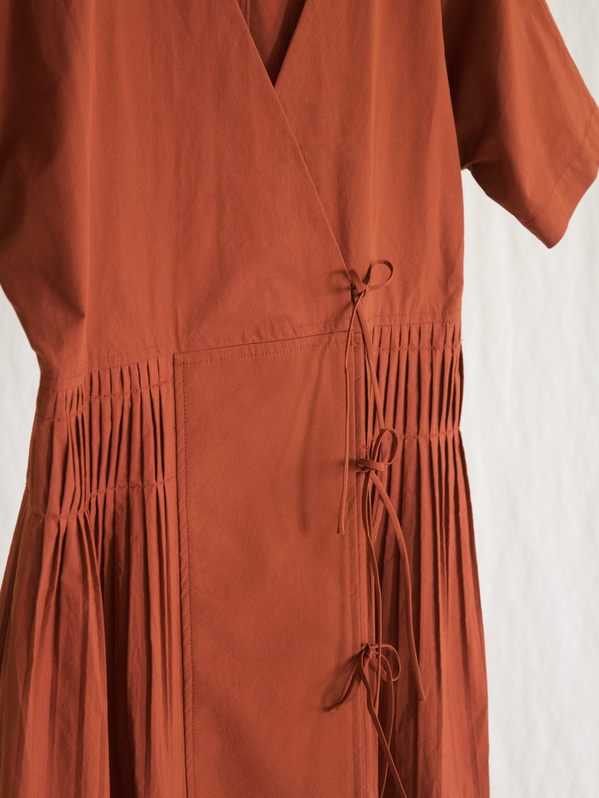 Namu Shop - Caron Callahan Mica Dress - Rust Cotton Poplin