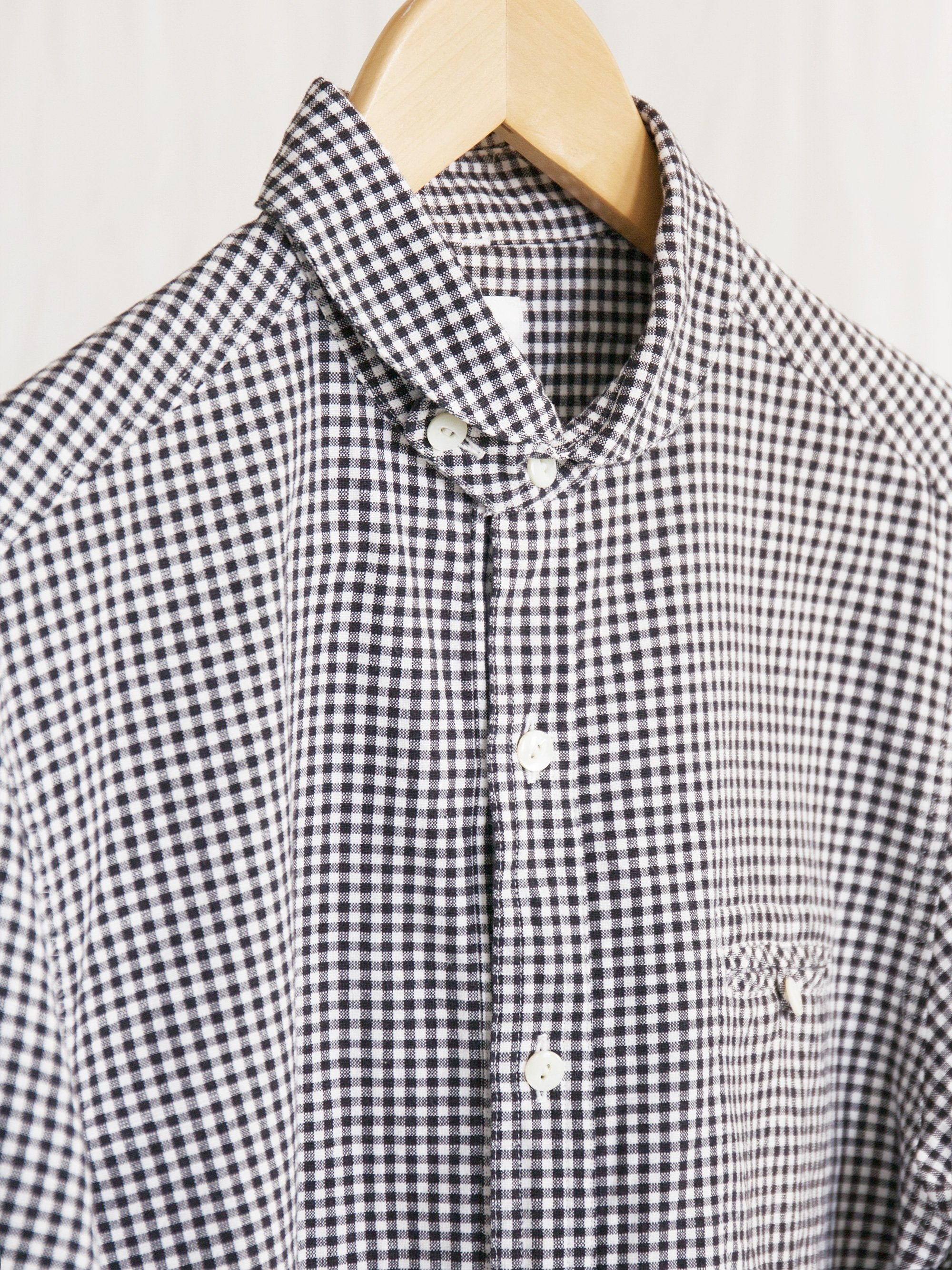 Namu Shop - Maillot Sunset Gingham Work Shirt - Black