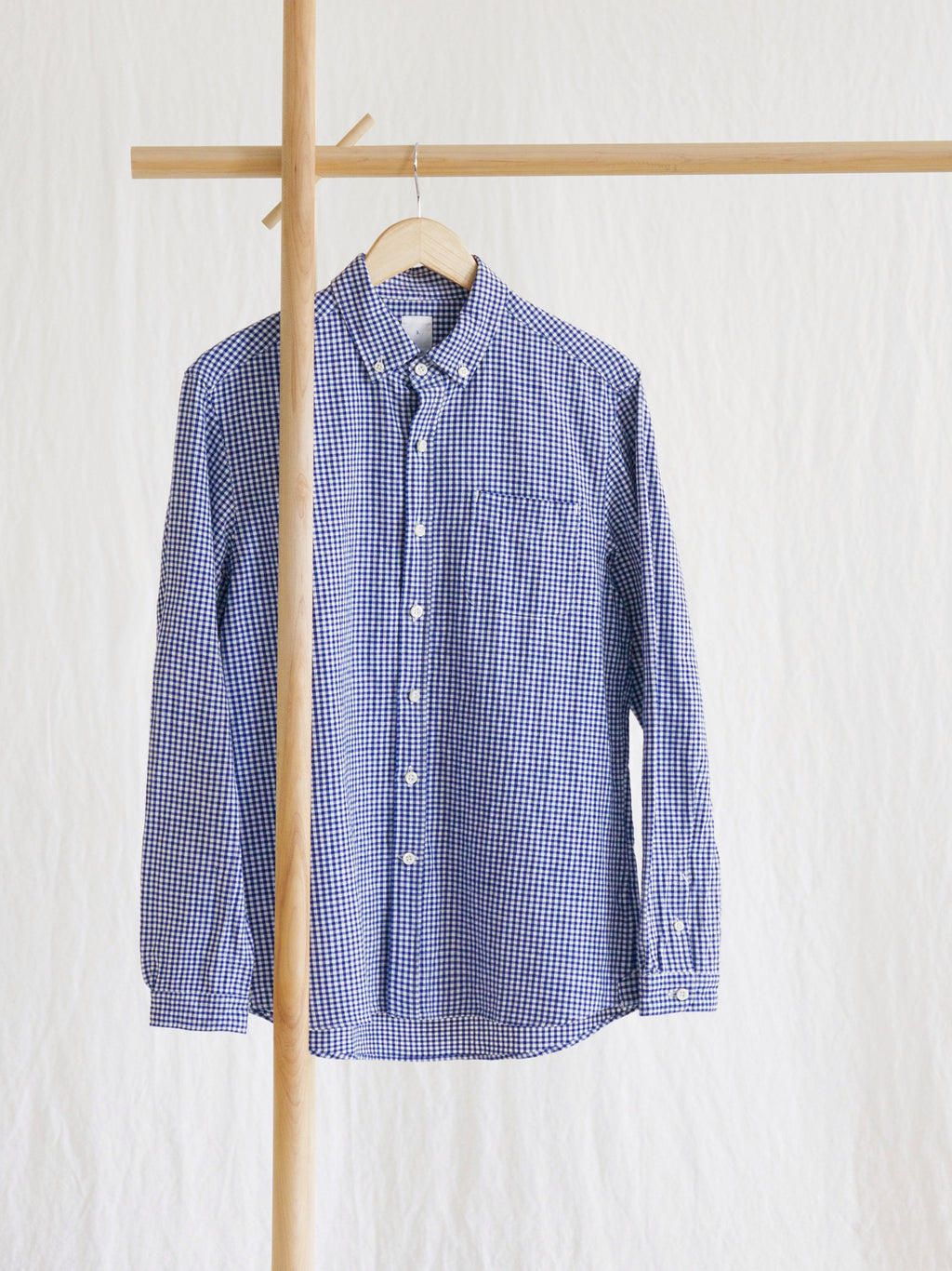 Namu Shop - Maillot Sunset Gingham BD Shirt - Blue (Women's)