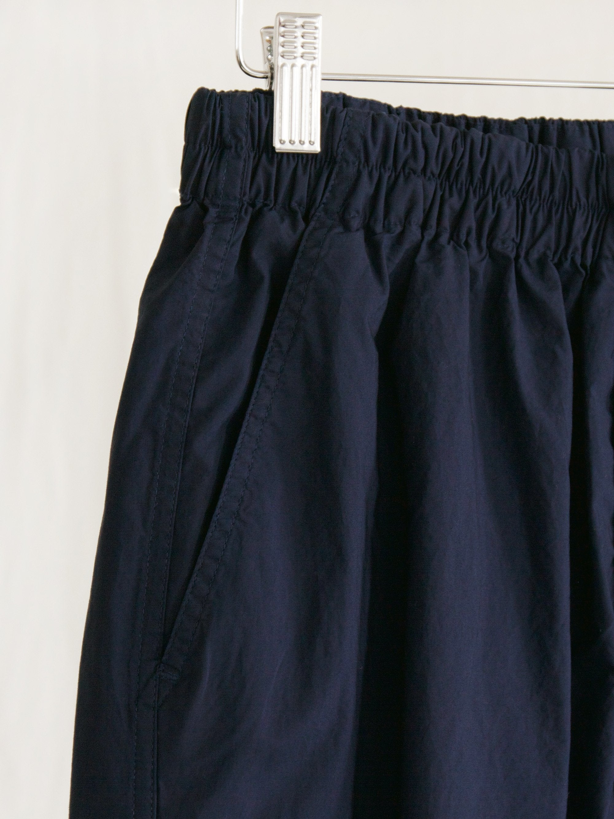 Namu Shop - Document Lightweight Stretched Gasset Easy Pants - Navy