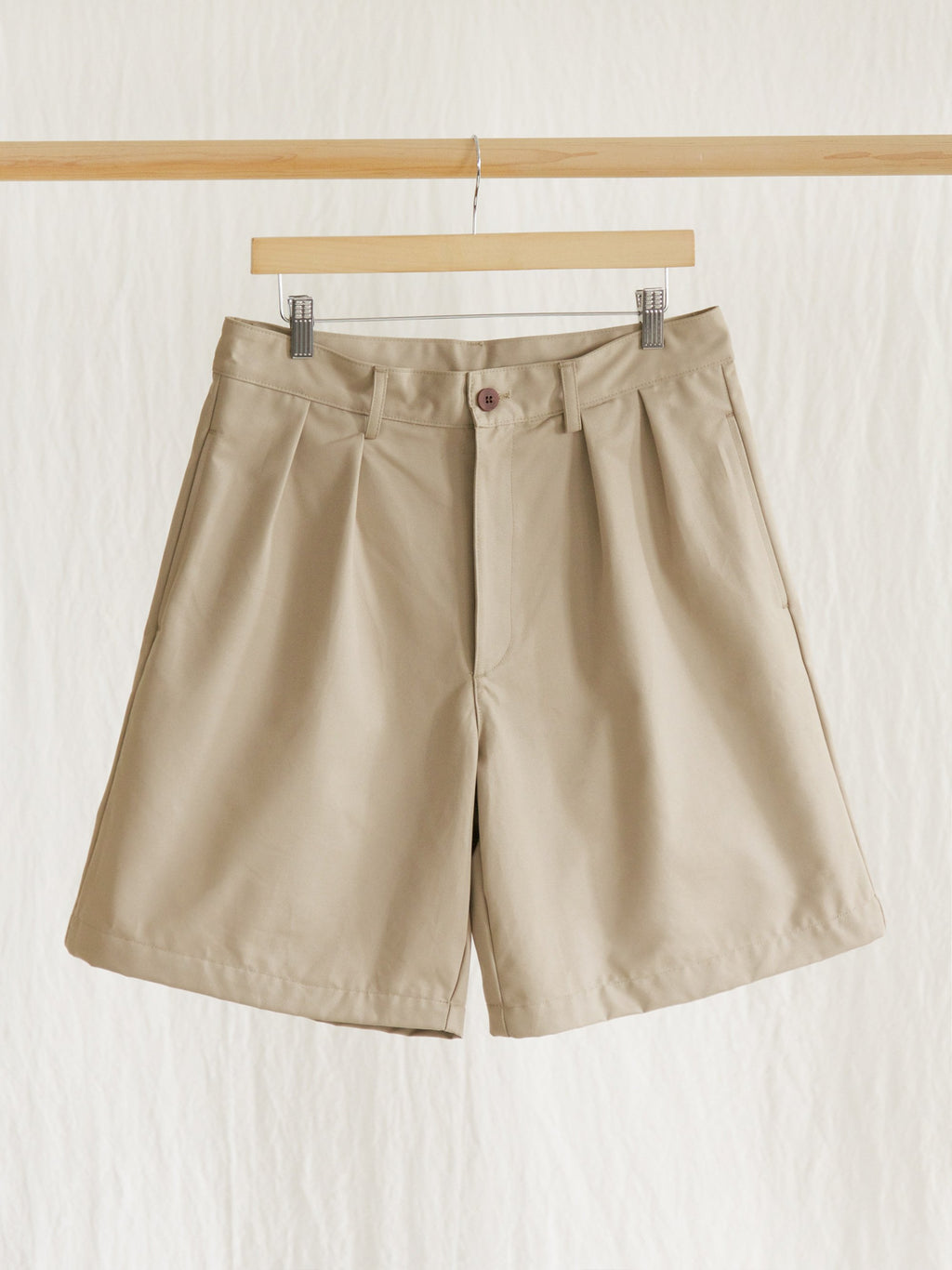 Namu Shop - paa Double Pleat Short - Khaki