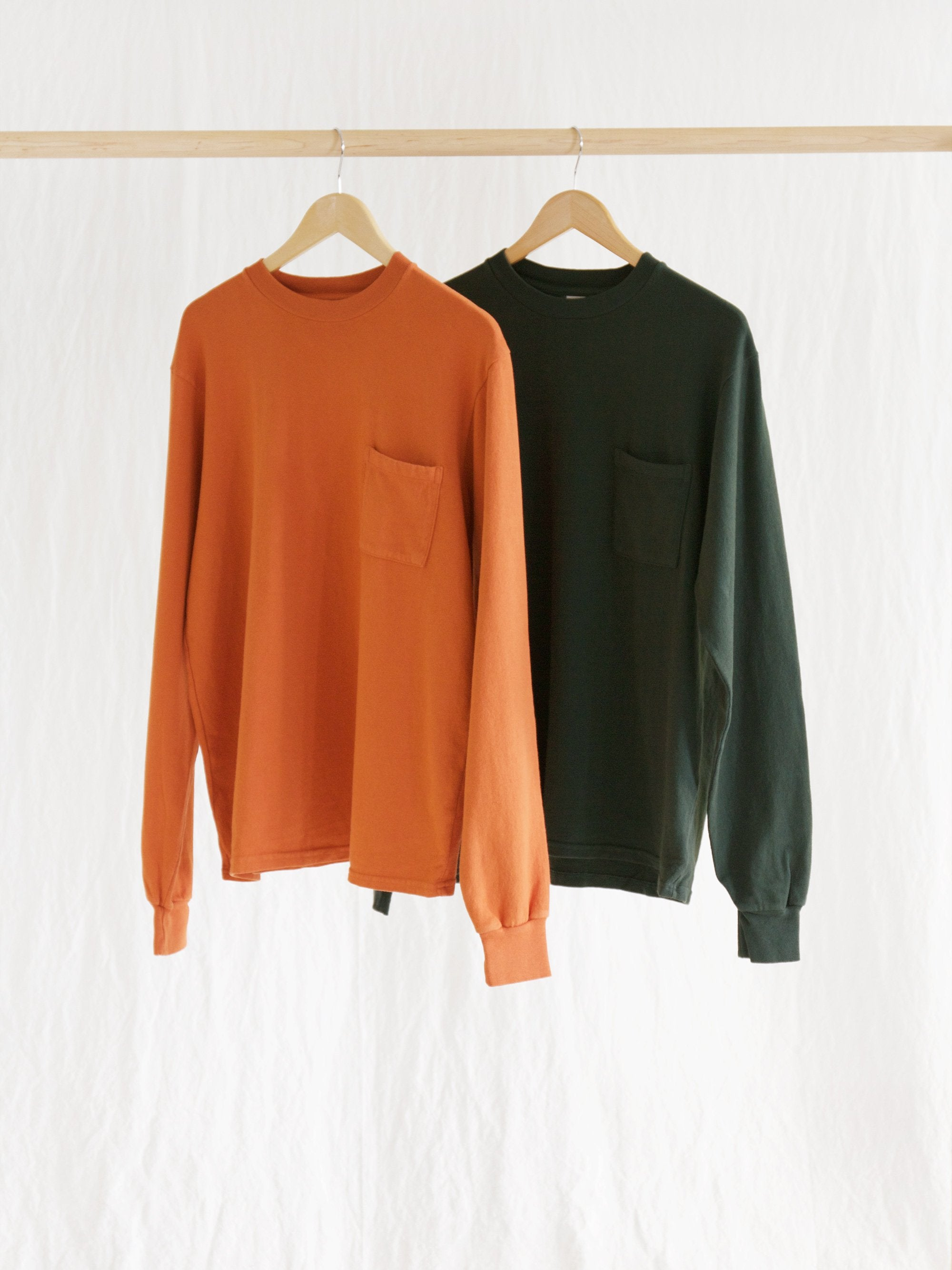 Namu Shop - paa LS Pocket Tee - Autumnal Orange