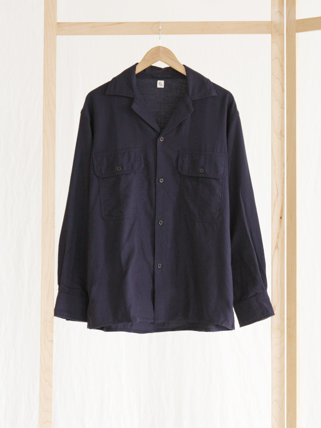 Namu Shop - Kaptain Sunshine Cotton Cashmere Flannel Open Collar Shirt