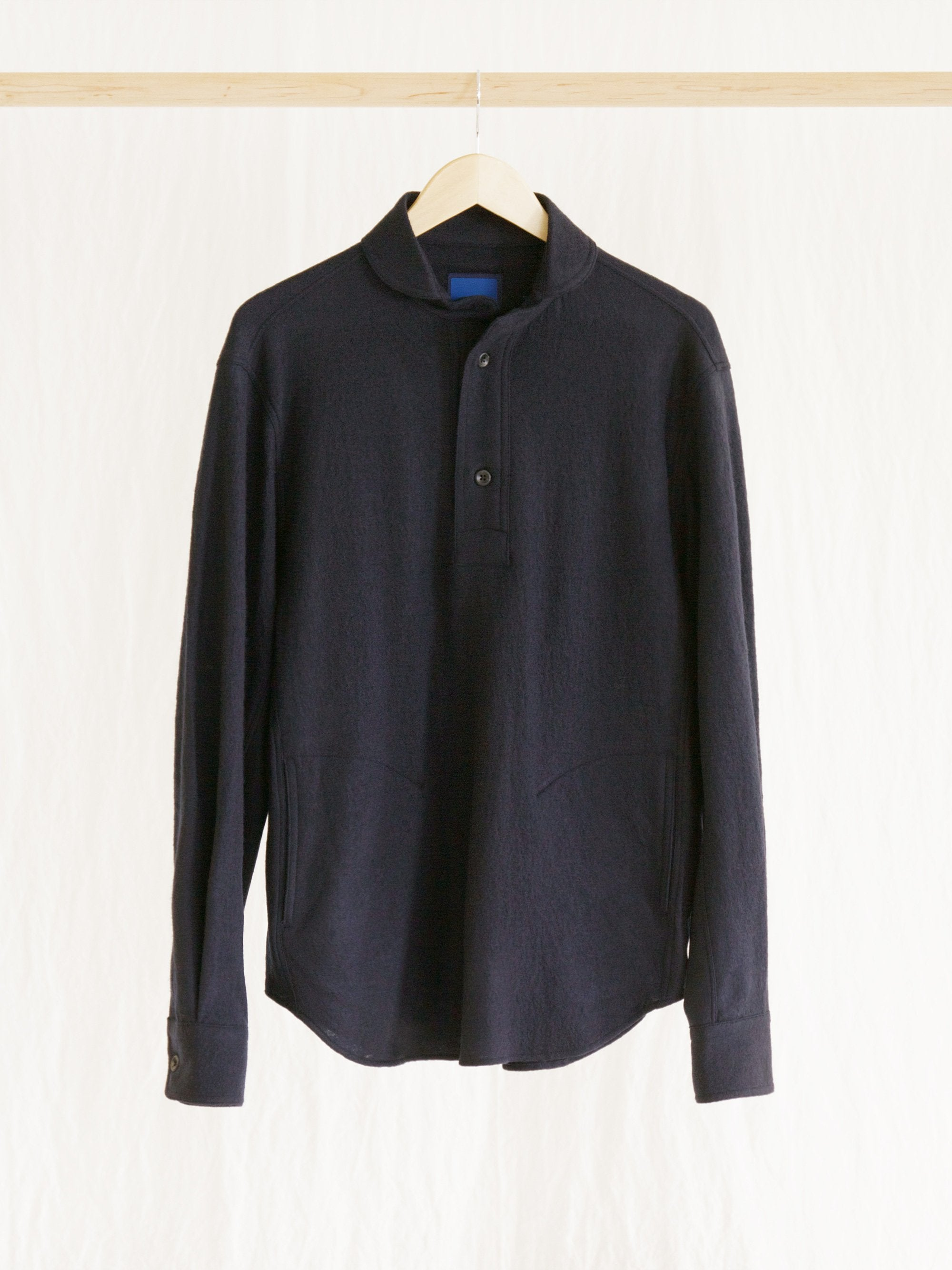 Namu Shop - Document Wool Jersey French Collar Round Shirt