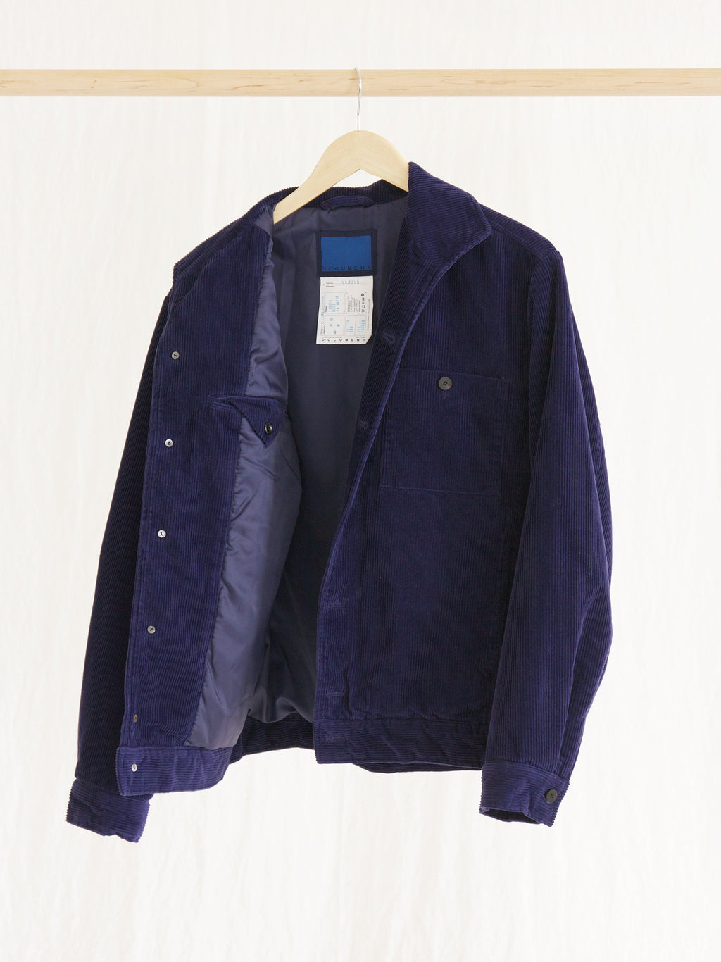 Namu Shop - Document Blue Corduroy Jacket