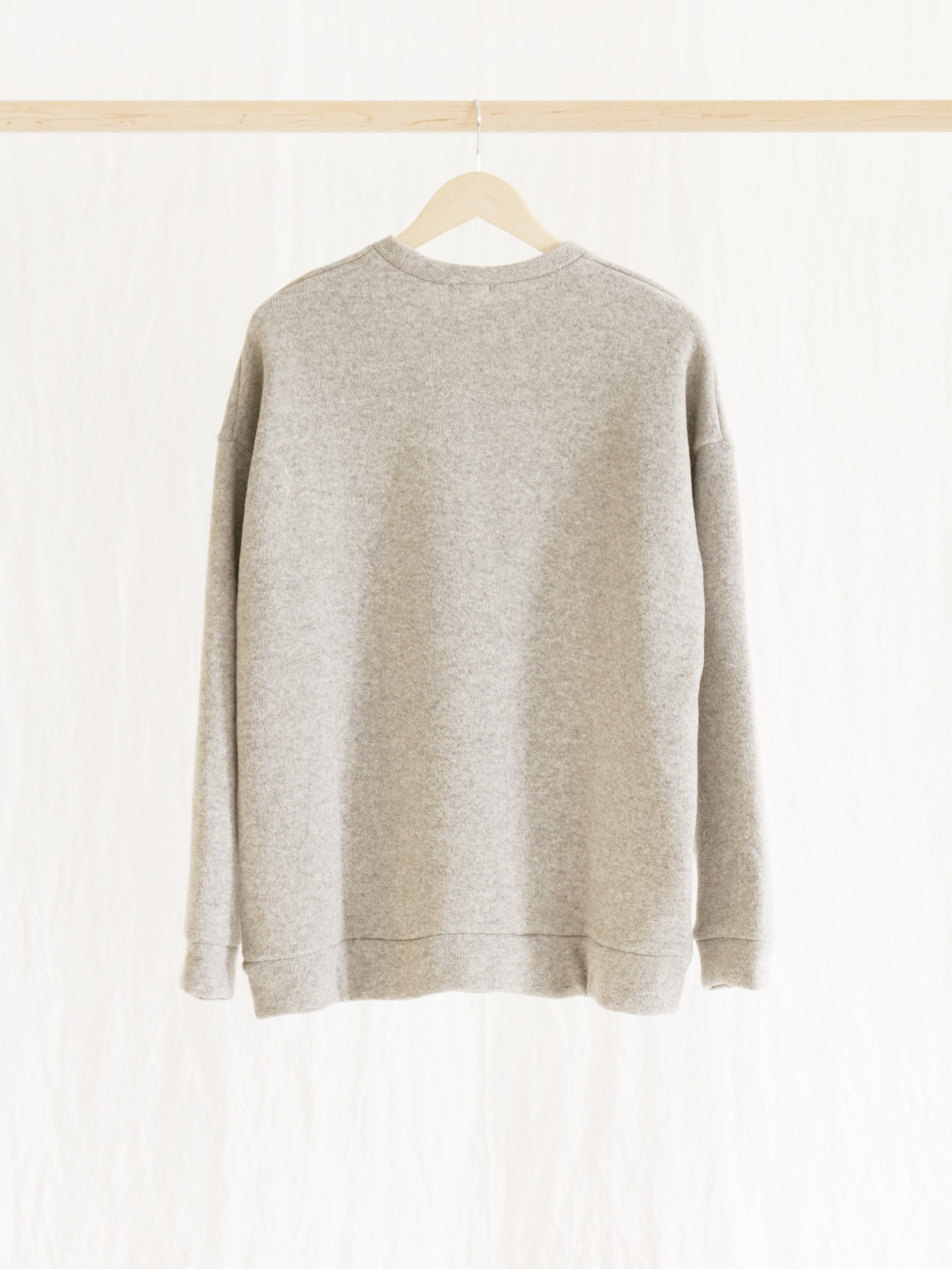 Namu Shop - Maillot Wool Pile Big Sweater - Top Gray