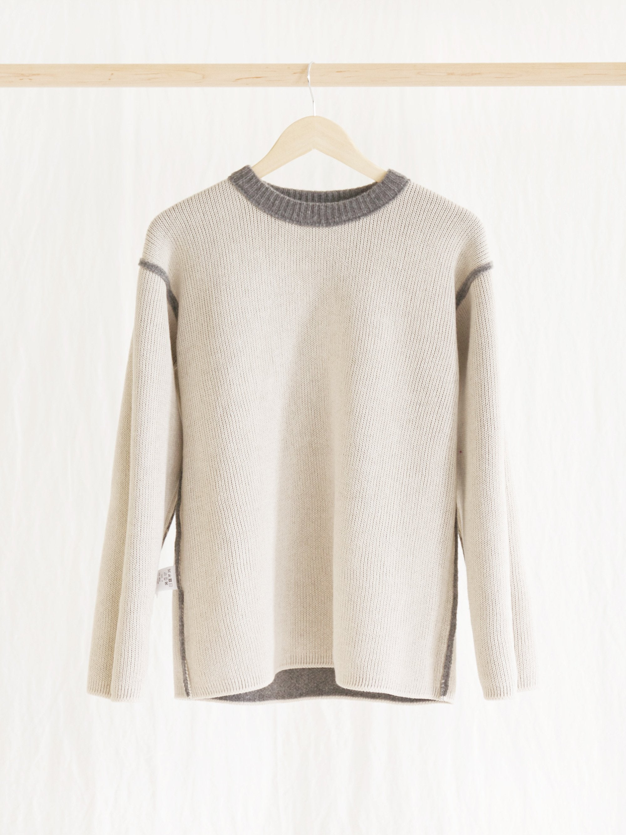 Namu Shop - ts(s) Cooma Lambs Wool Crew Neck Knit - Gray