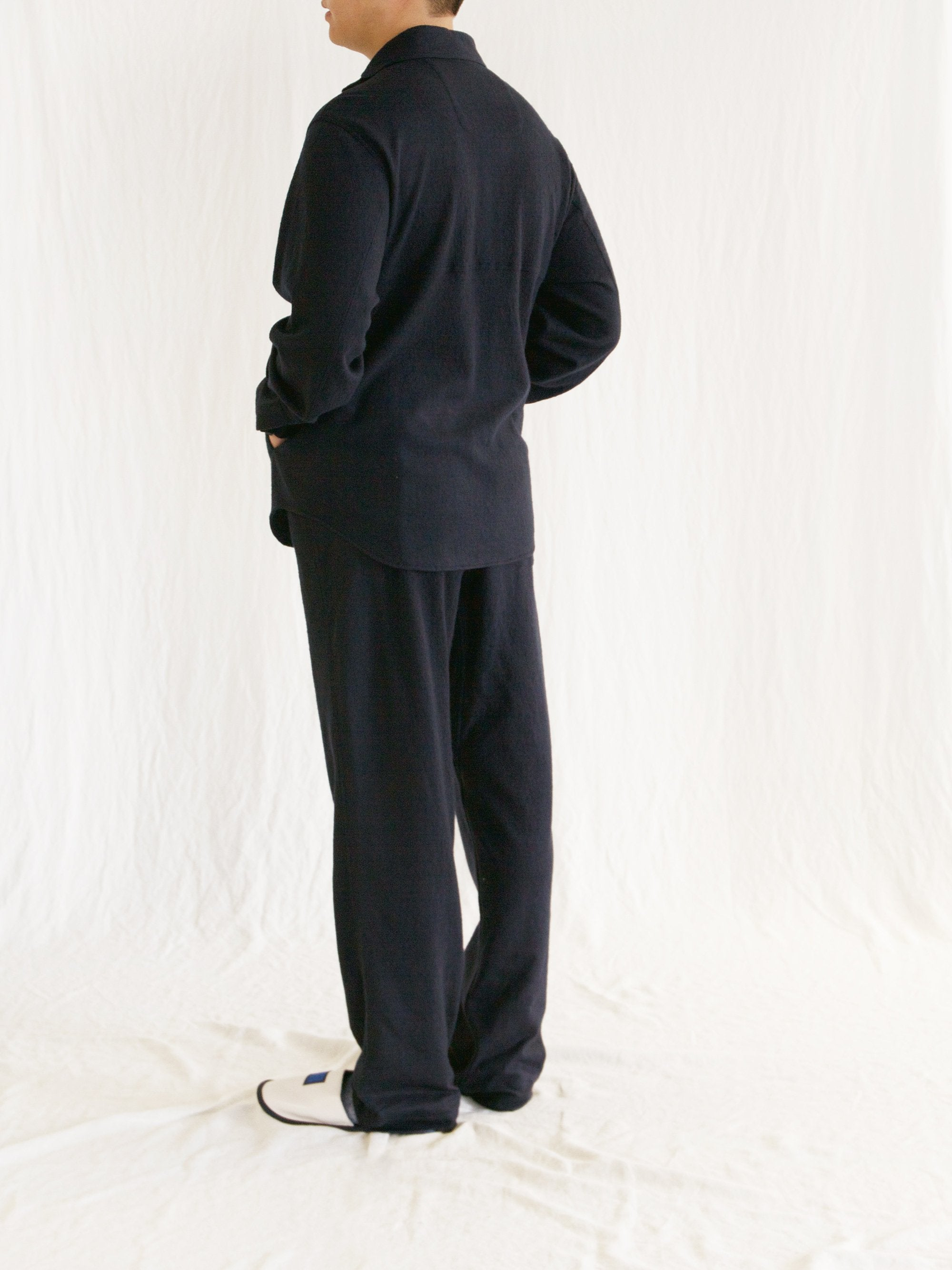 Namu Shop - Document Wool Jersey Easy Pants