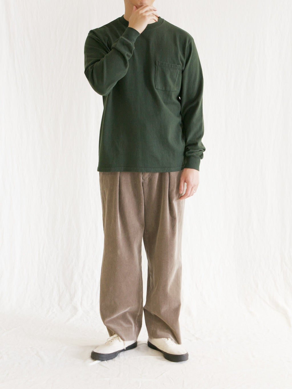 Namu Shop - Kaptain Sunshine 9-Wale Corduroy Easy Trousers