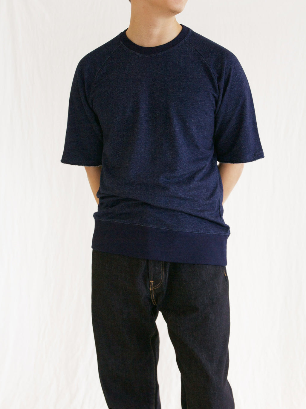 Namu Shop - Document Indigo Sweat Jersey (Re-stock)