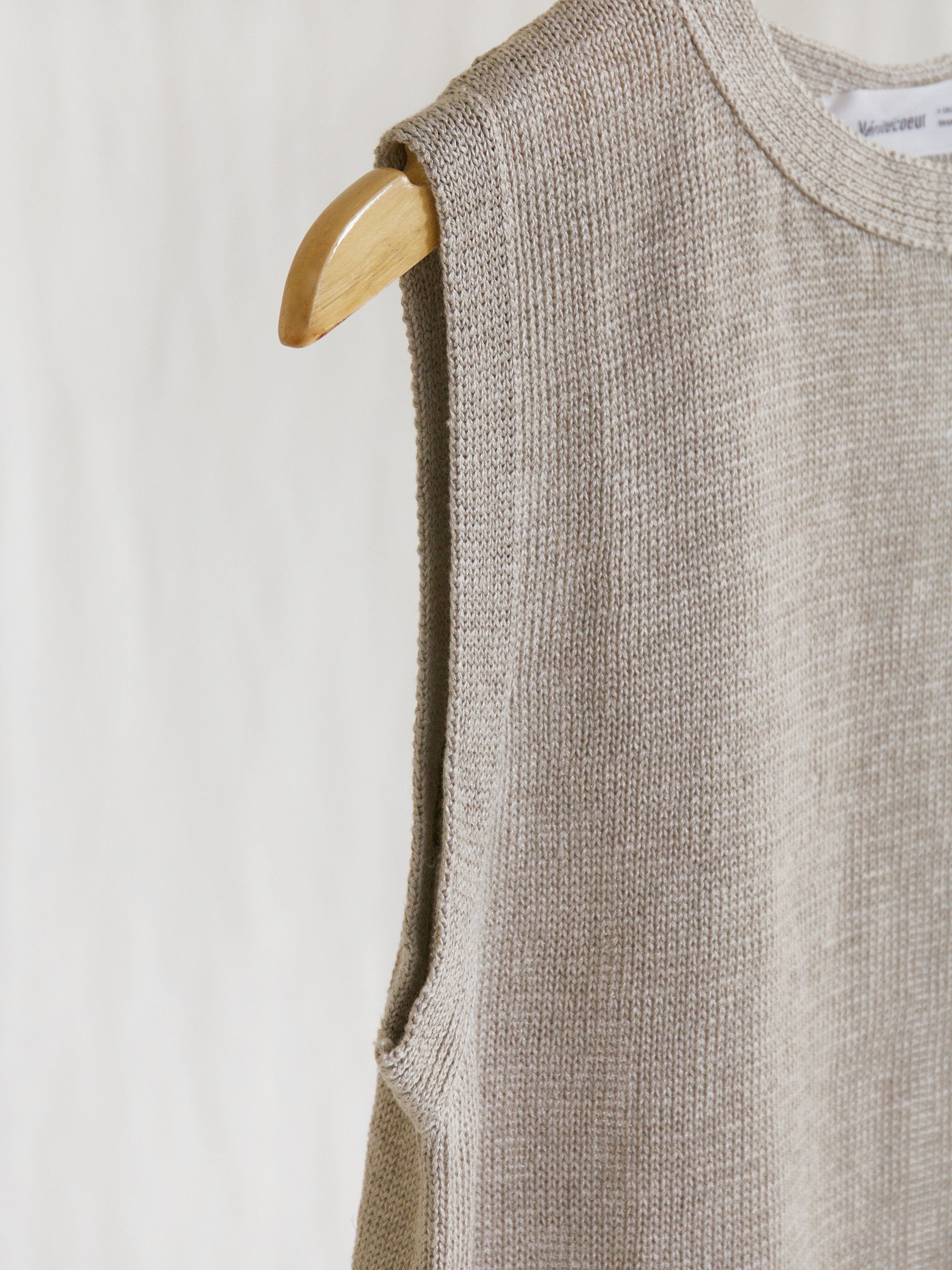 Namu Shop - Veritecoeur Linen Vest - Natural