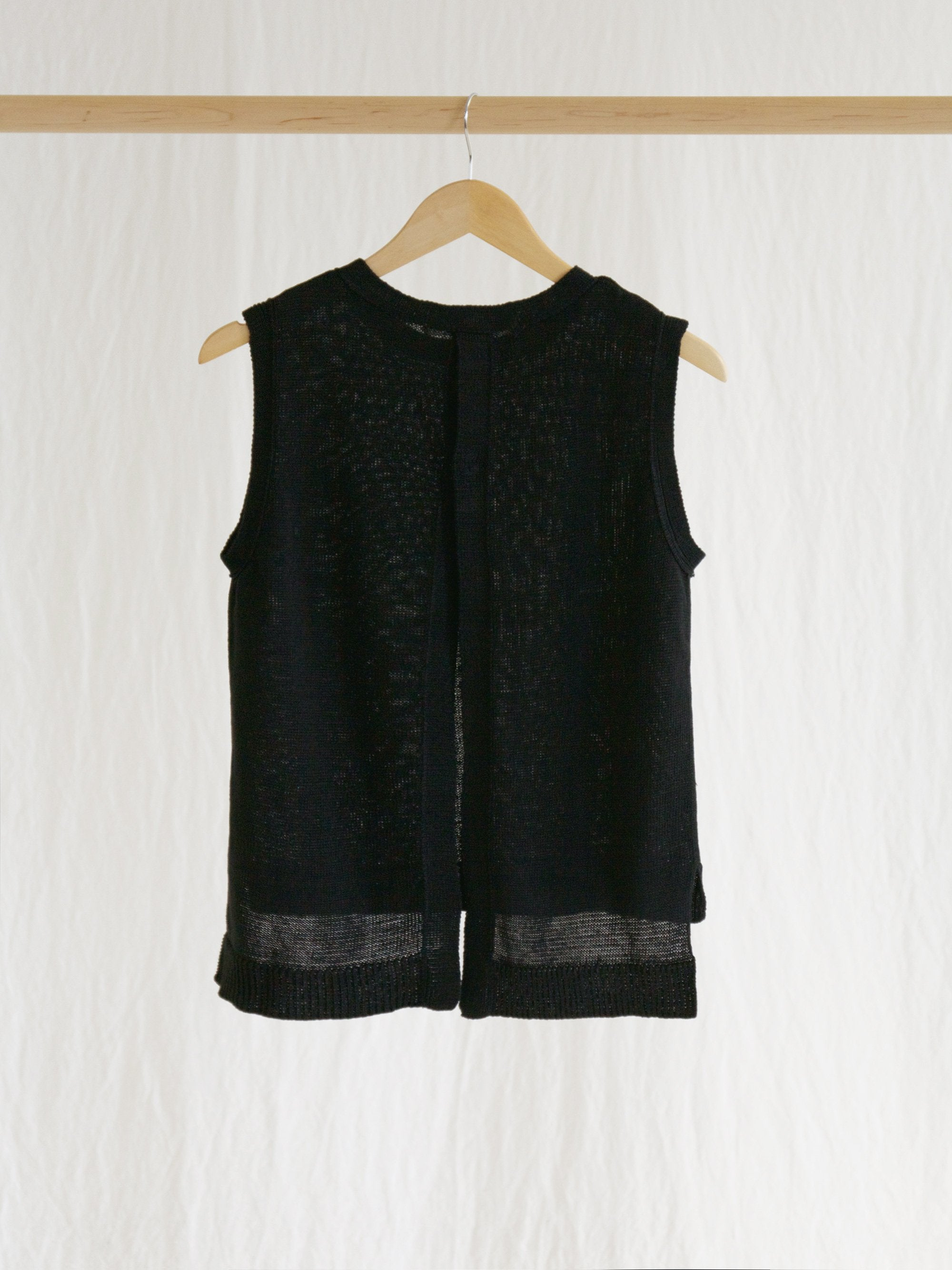 Namu Shop - Veritecoeur Linen Vest - Black