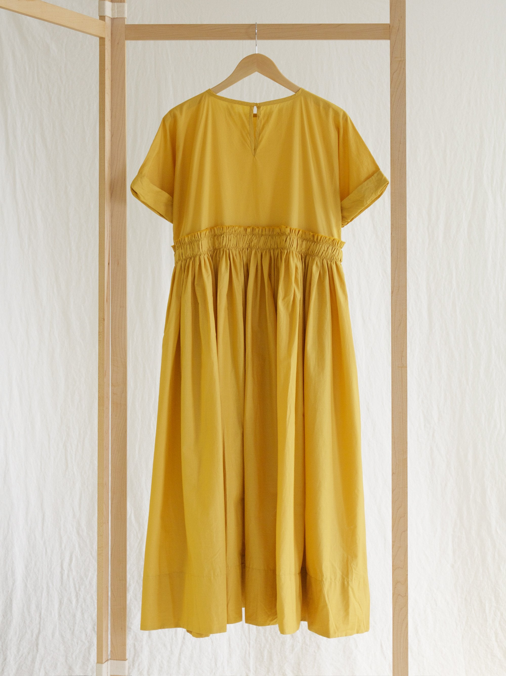 Namu Shop - Veritecoeur Pleated Dress - Karashi