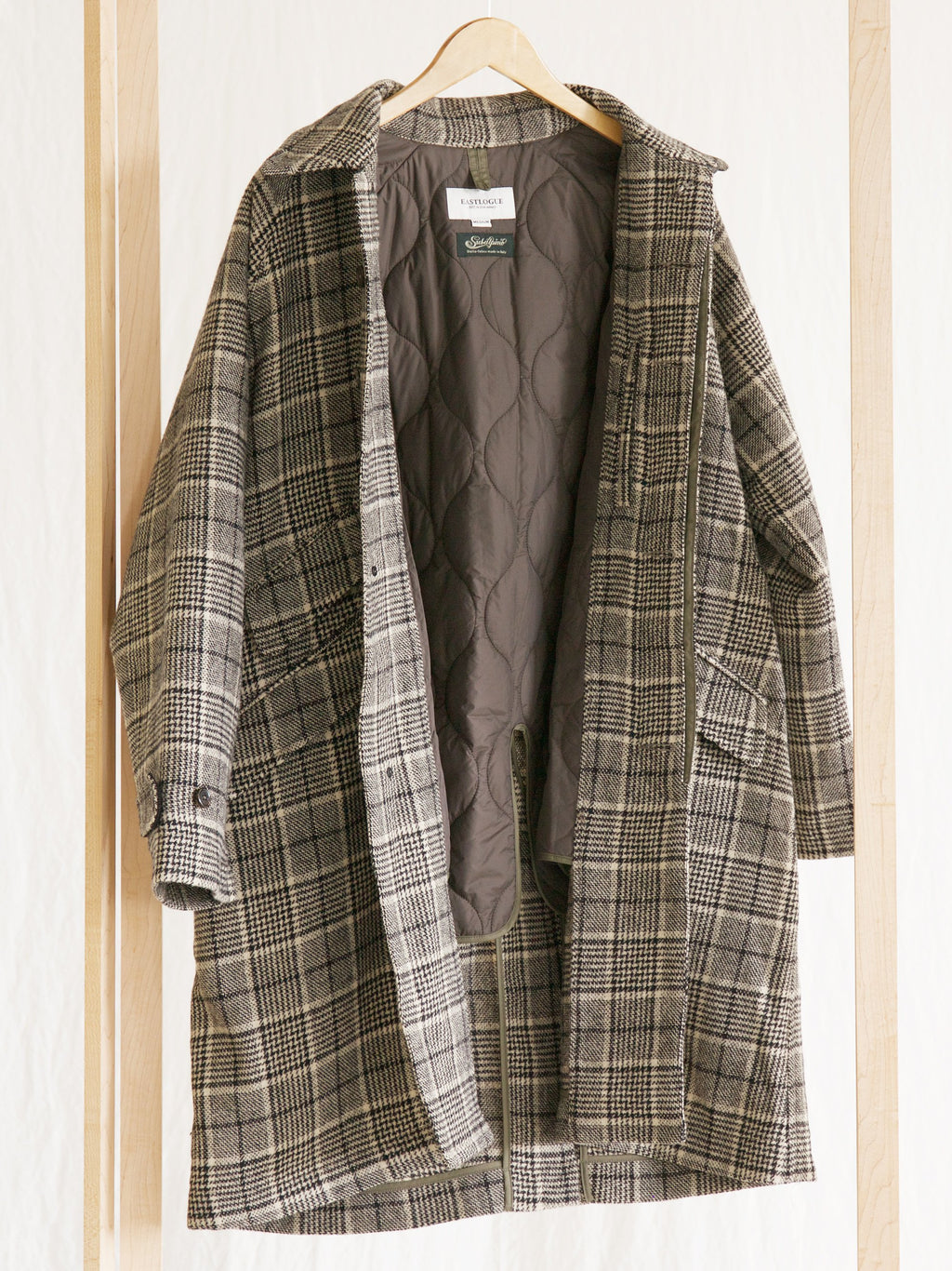 Namu Shop - Eastlogue Check Balmacaan Coat