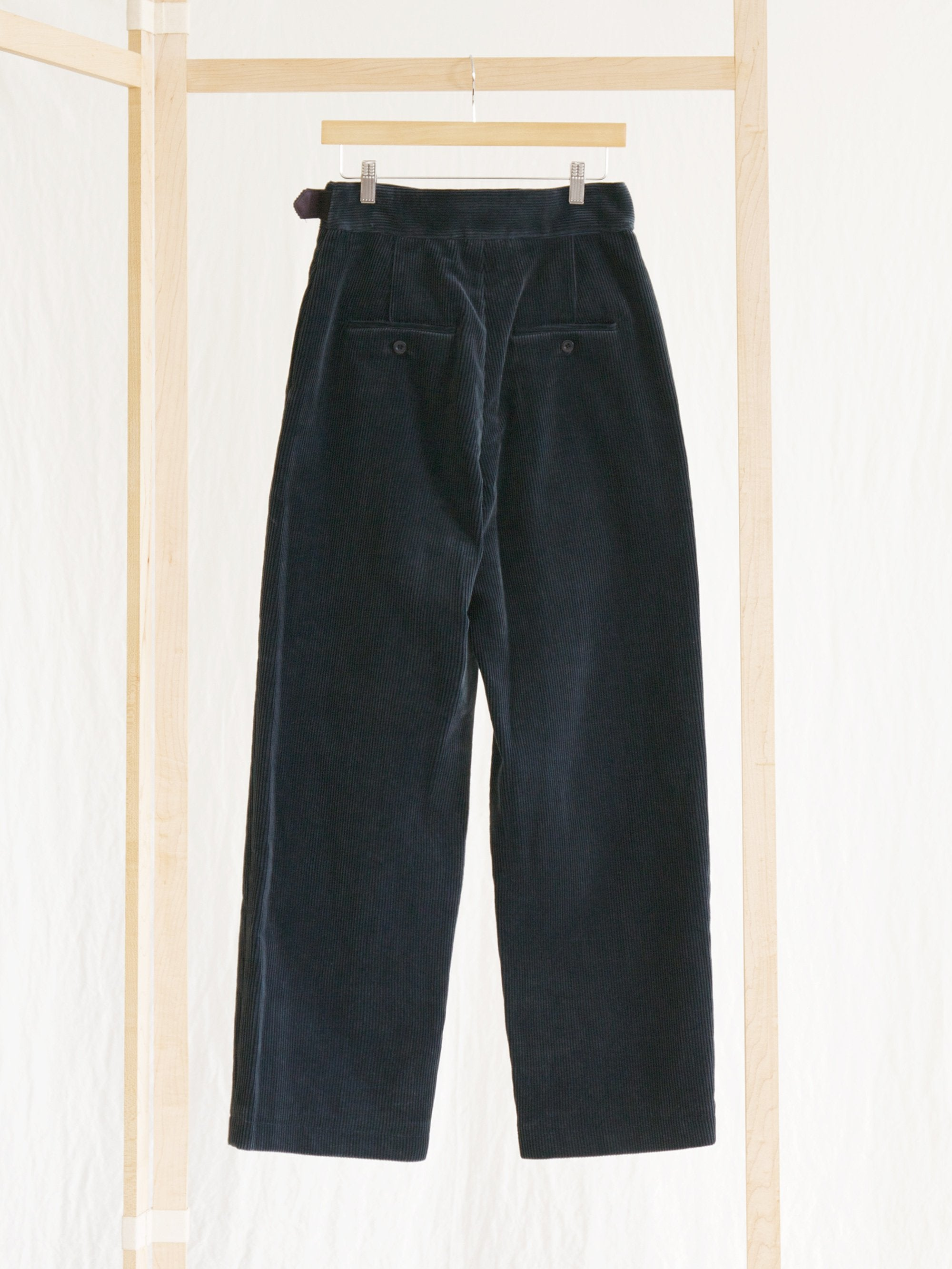 Namu Shop - Phlannel Cotton Corduroy Gurkha Trousers - Iron Blue