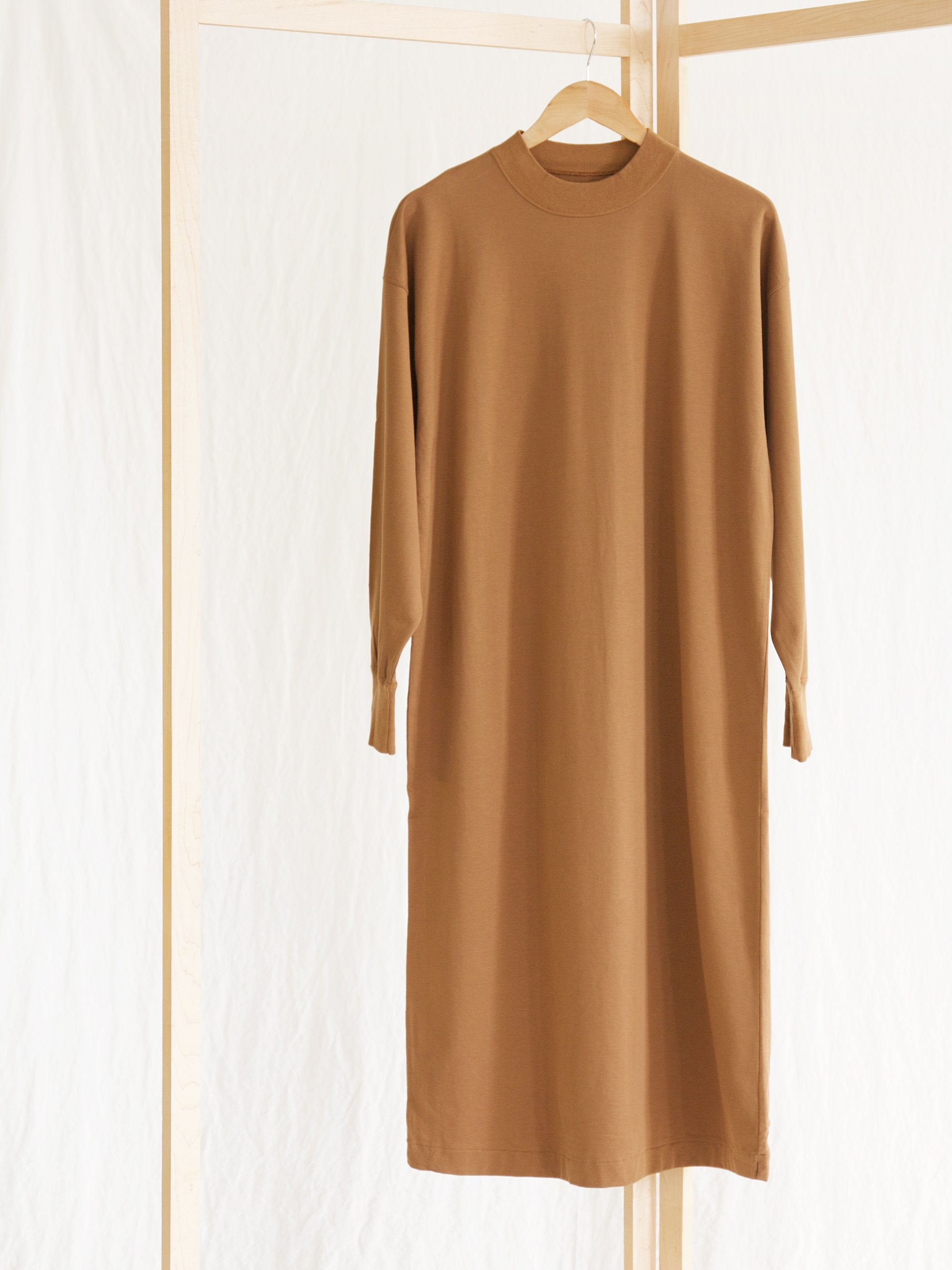 Namu Shop - Phlannel Brushed Fine Gauge Cotton Long Dress