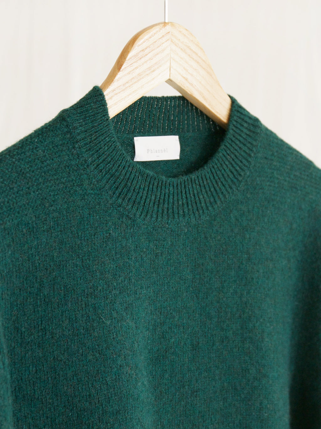Namu Shop - Phlannel Shetland Wool Crewneck Sweater - Bottle Green (Men's)