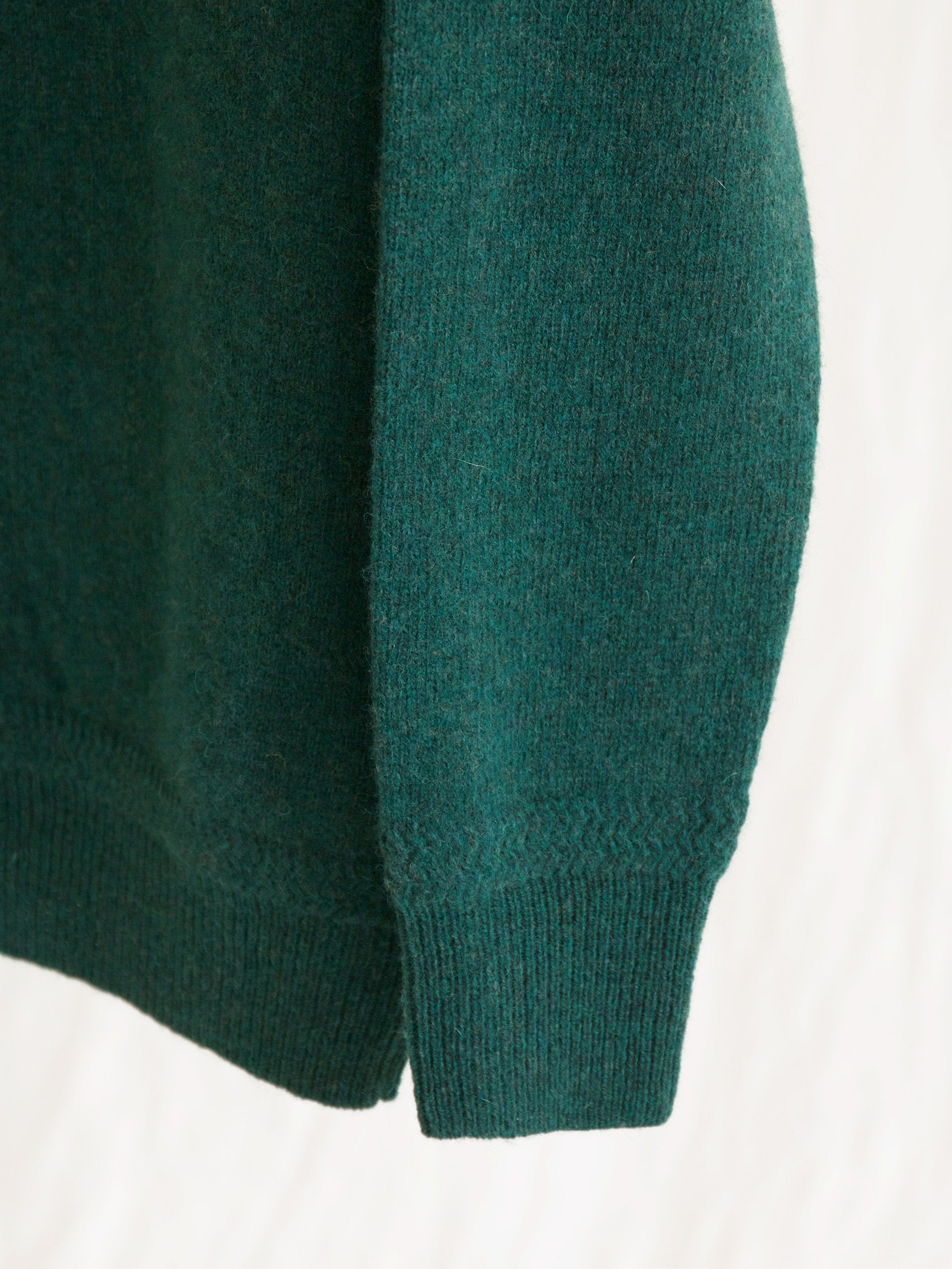 Namu Shop - Phlannel Shetland Wool Crewneck Sweater - Bottle Green (Women's)