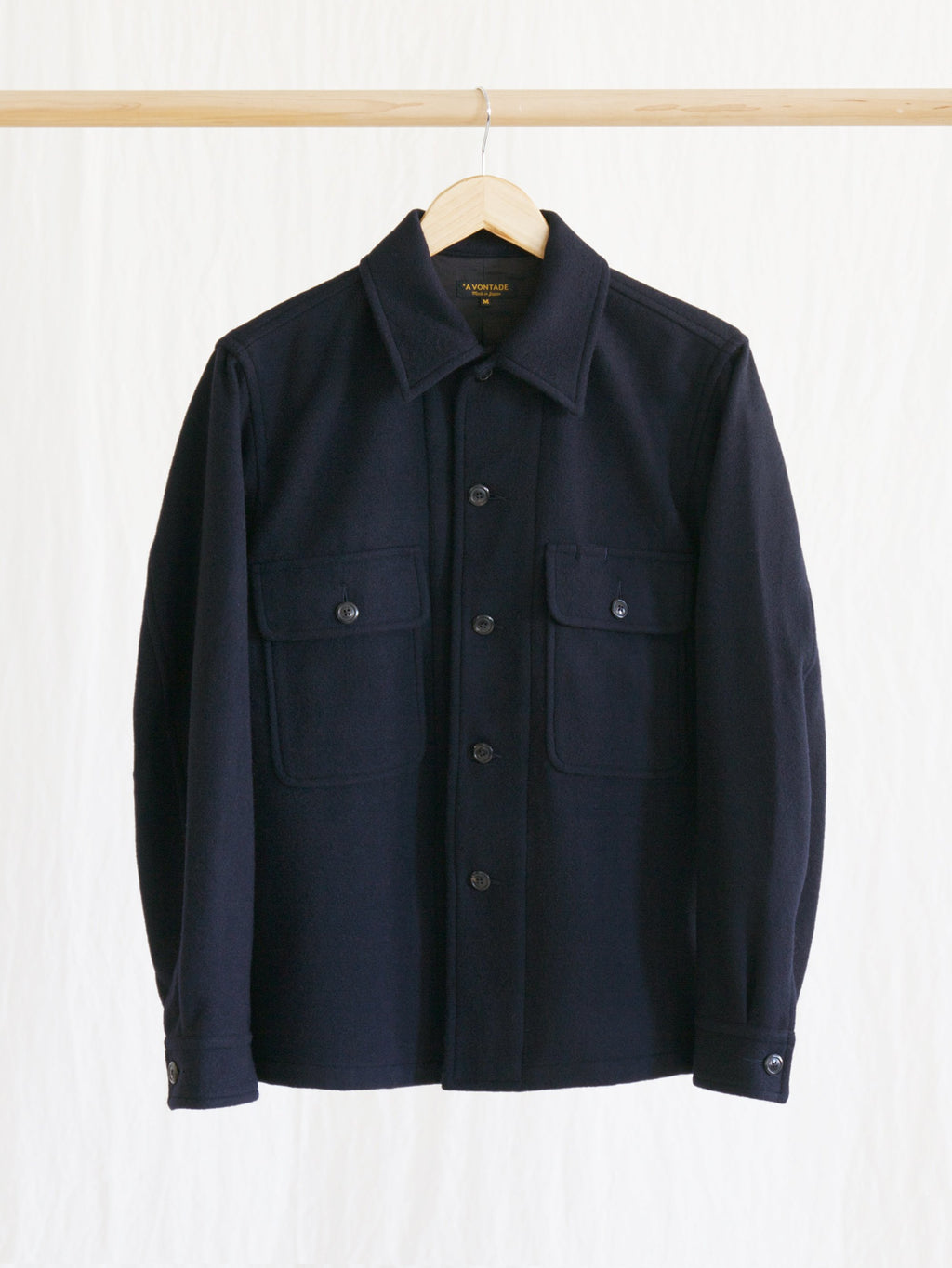 Namu Shop - A Vontade Melton Wool Shirt Jacket