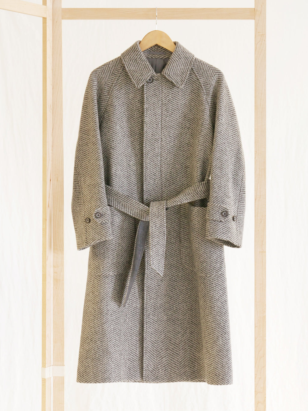 Namu Shop - Phlannel Mix Tweed Belted Coat