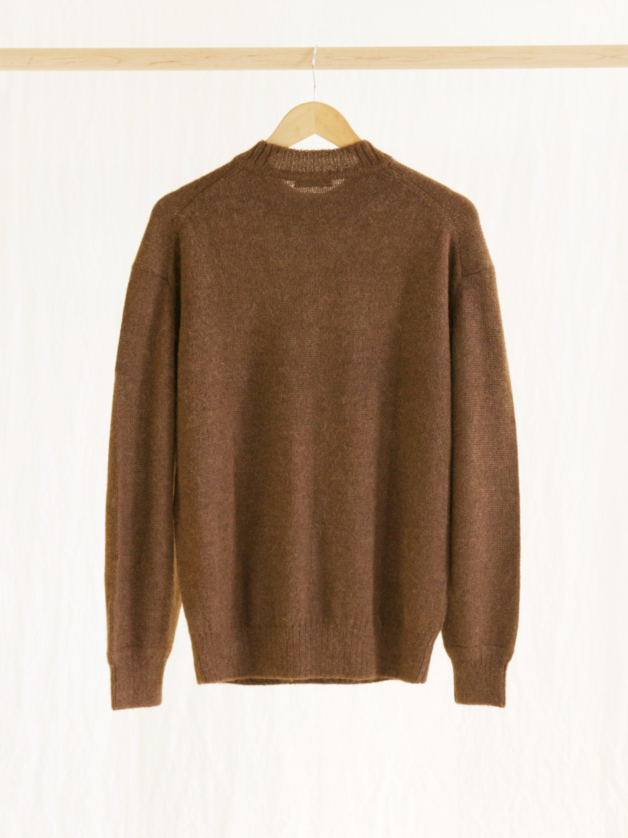 Namu Shop - Phlannel Baby Alpaca Crewneck Knit - Walnut