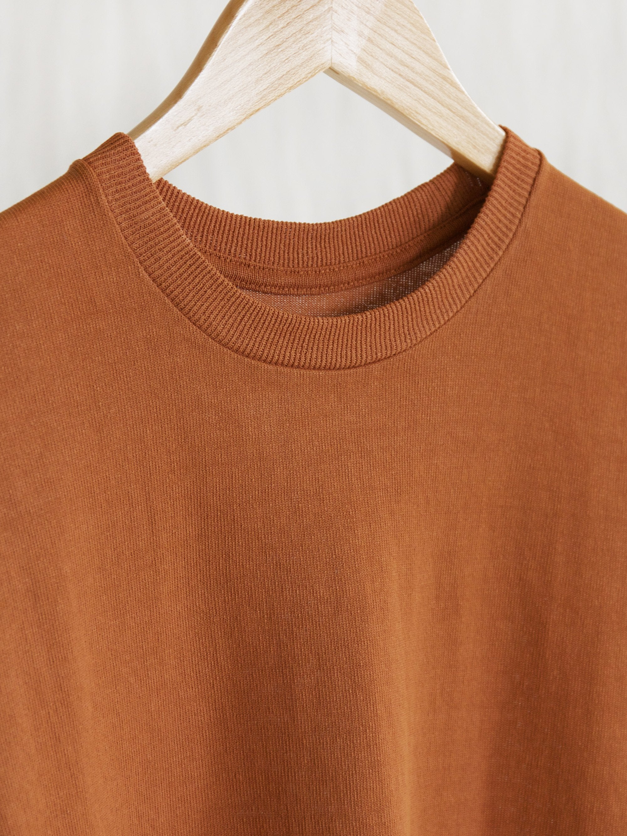 Paper Crewneck Big Tee - Rust