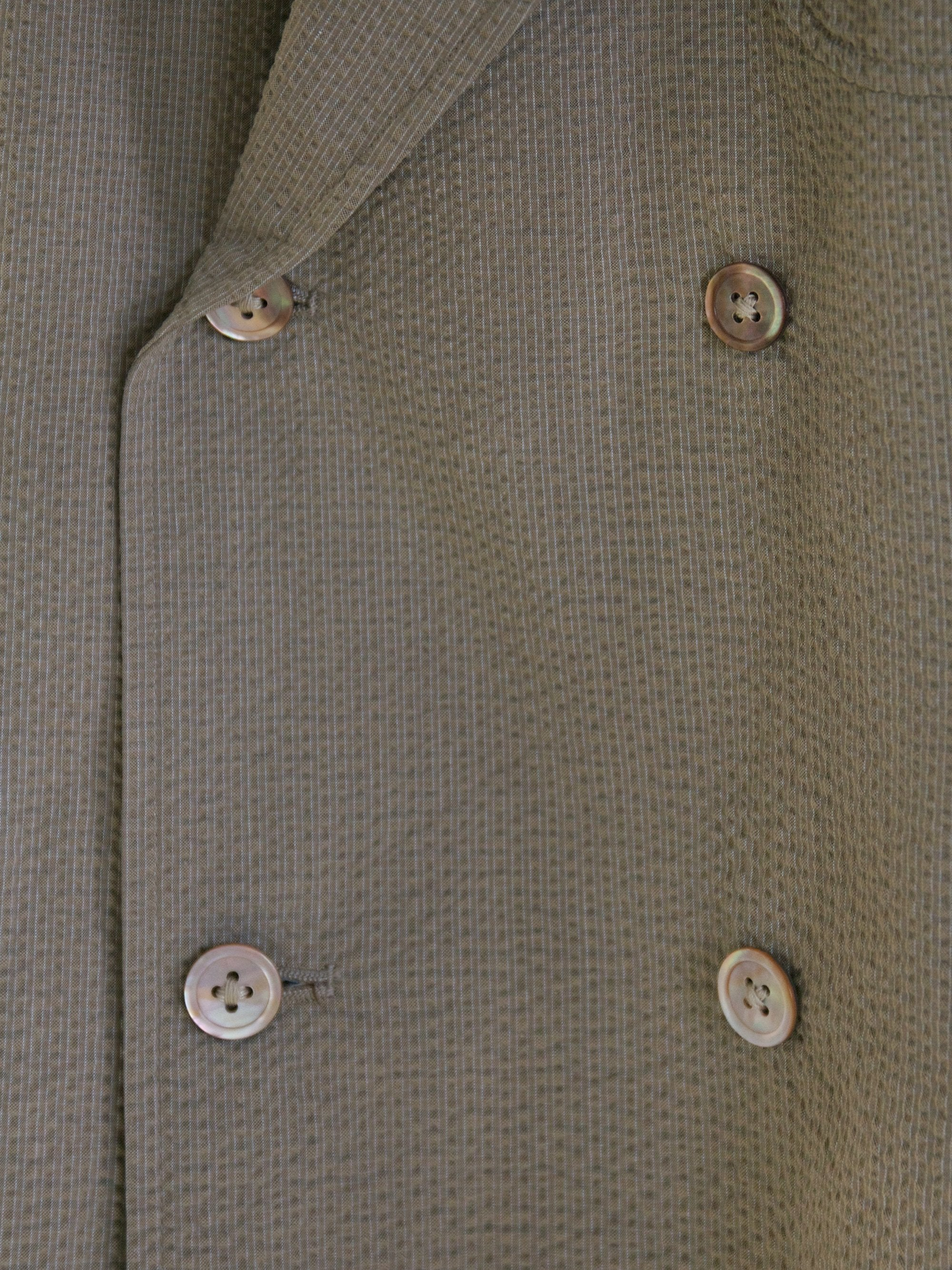Fieldwrap Double-Breasted Jacket - Beige x Gray