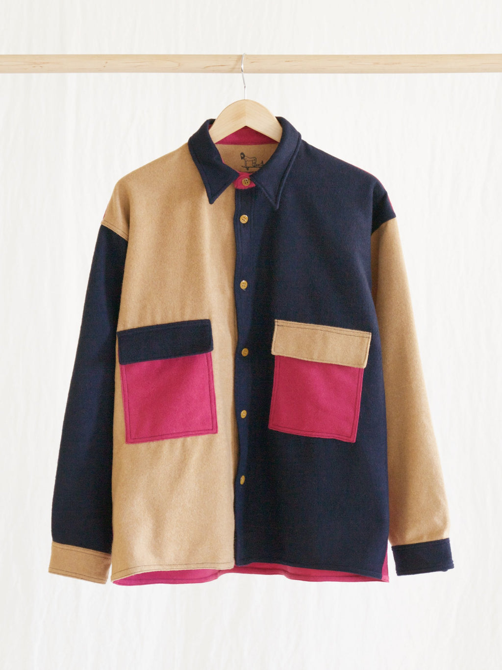 Namu Shop - Niche M.B.C Wool Shirt Jacket (Diskah collab)