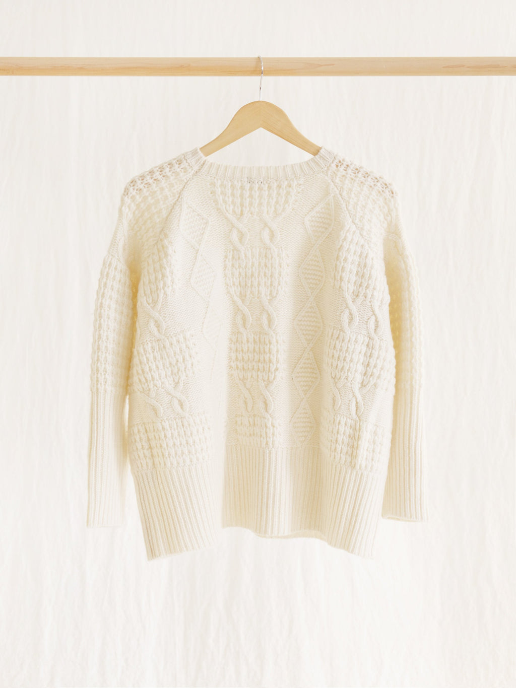 Namu Shop - Ichi Antiquites Patchwork Knit Pullover