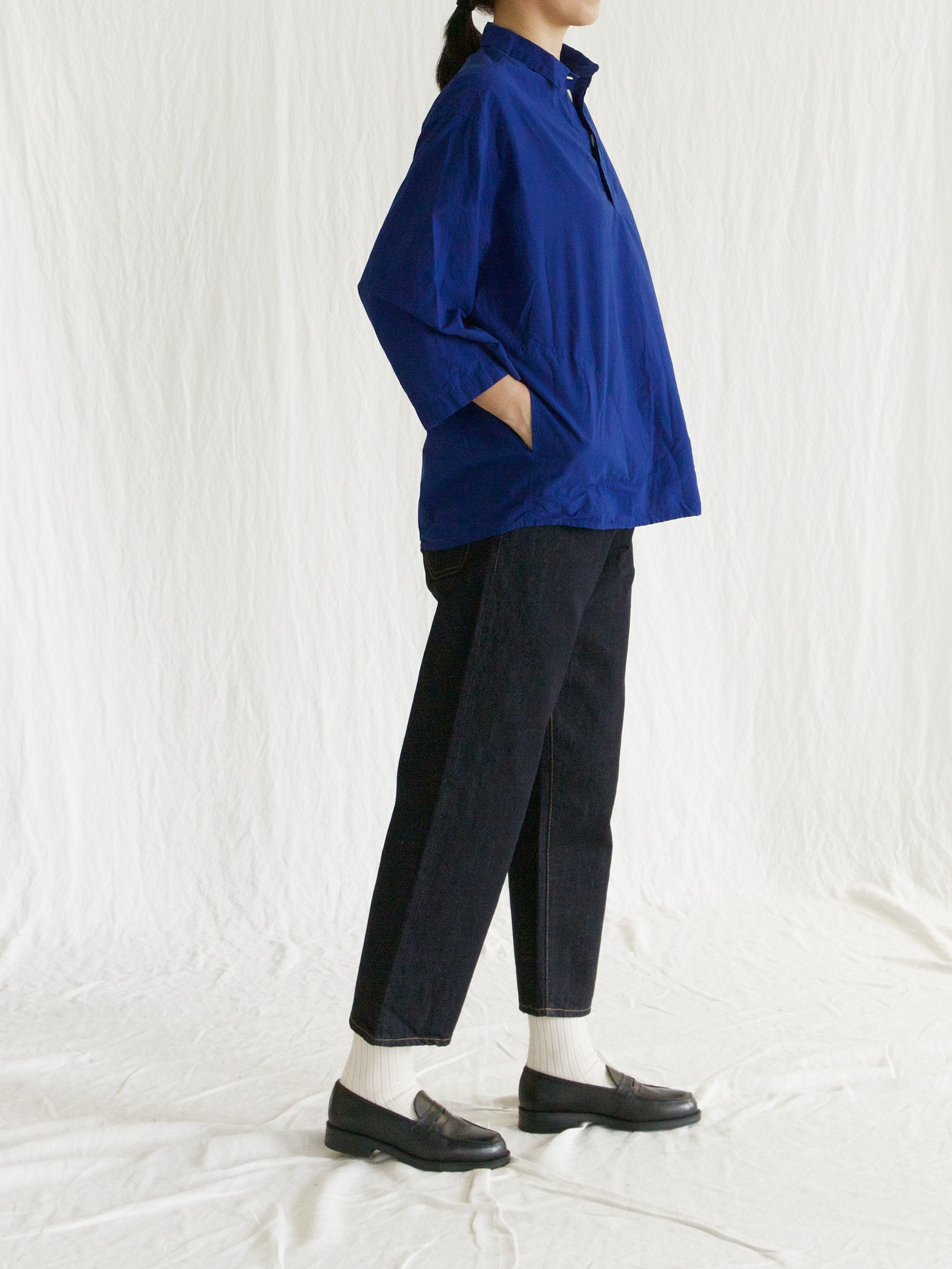 Namu Shop - Veritecoeur Co / Li Pocket Pullover Shirt - French Blue