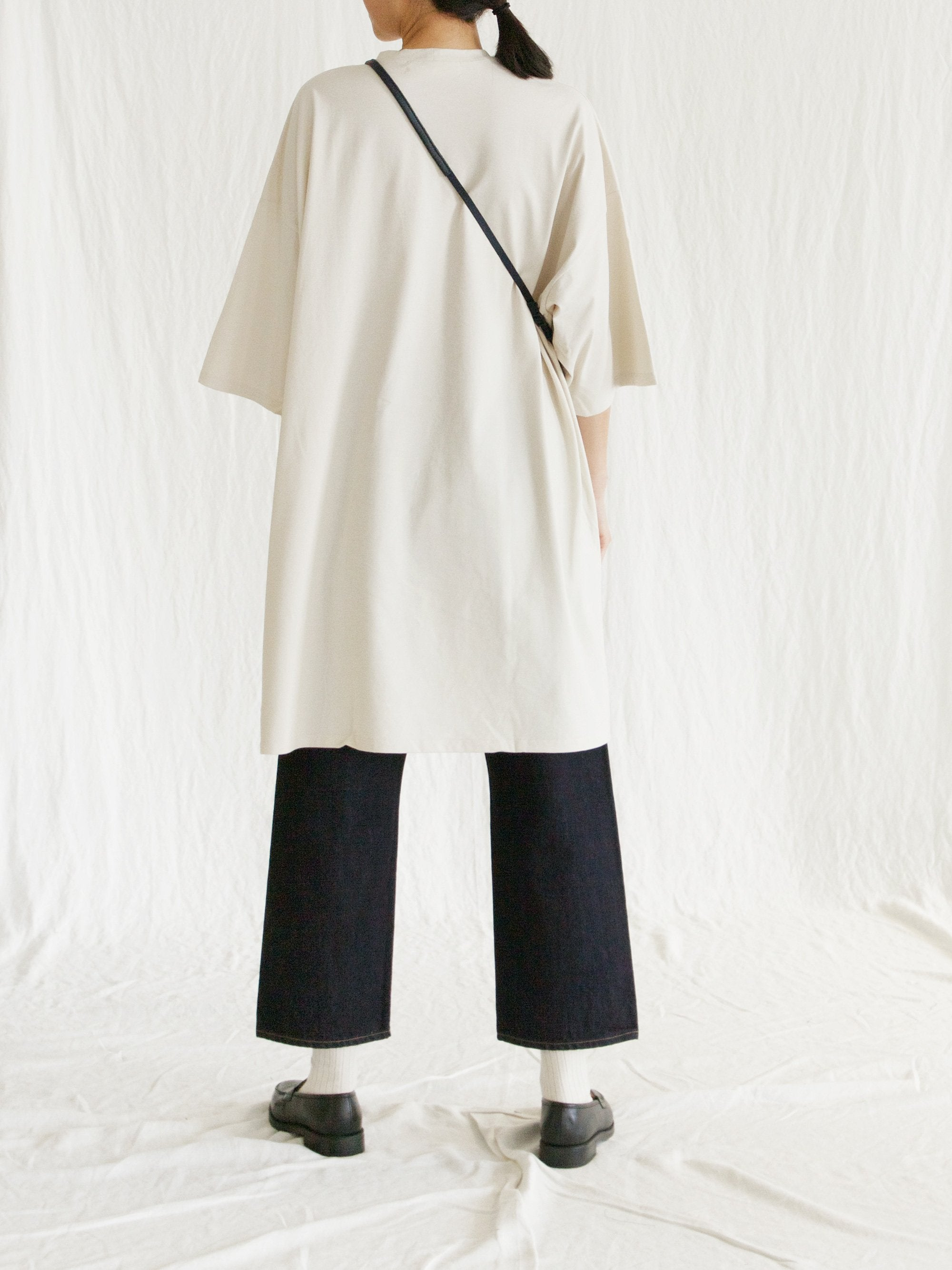 Namu Shop - Veritecoeur Oversized T-Shirt Dress - Ivory