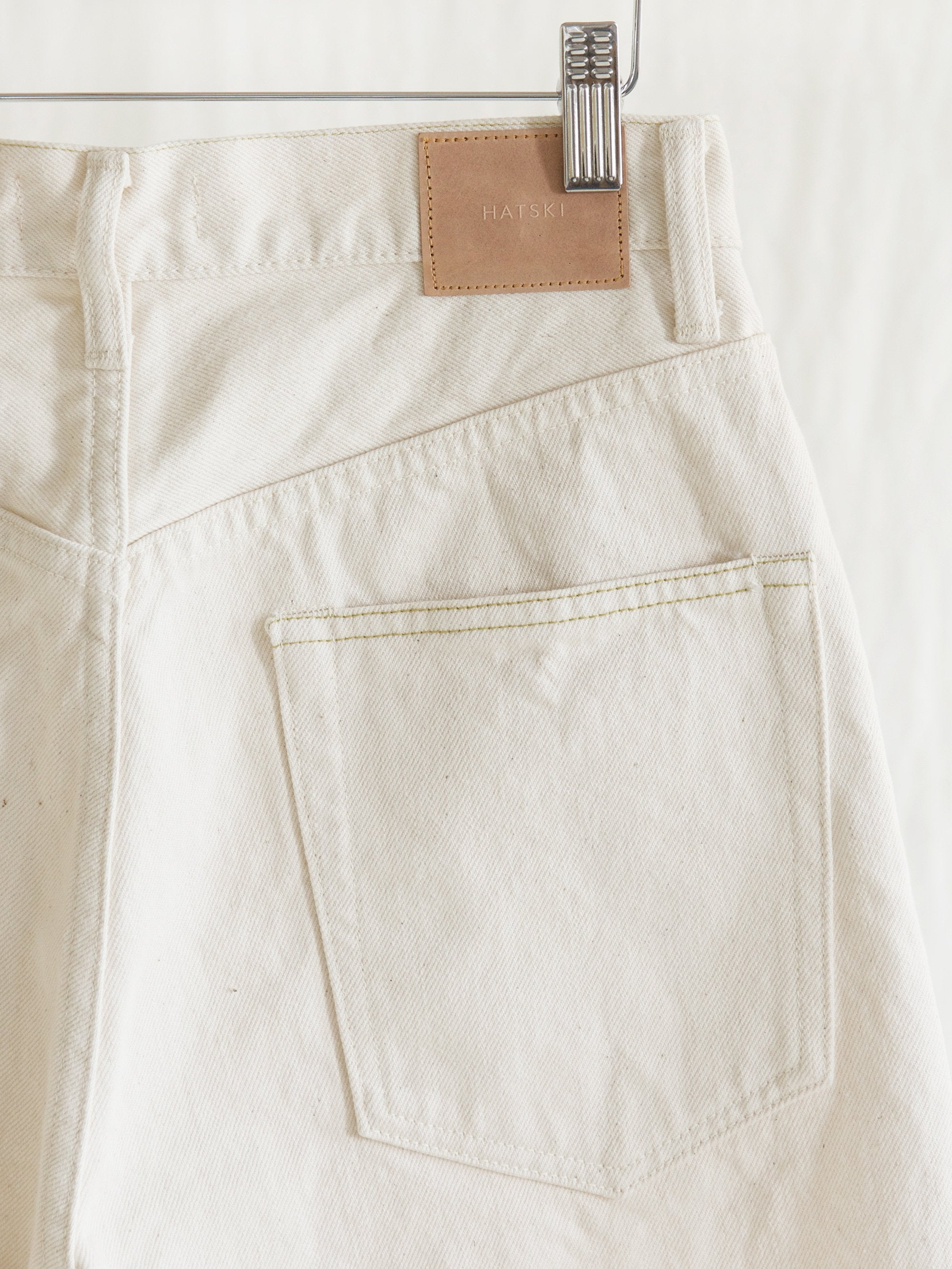Namu Shop - Hatski Loose Tapered Denim - Ecru