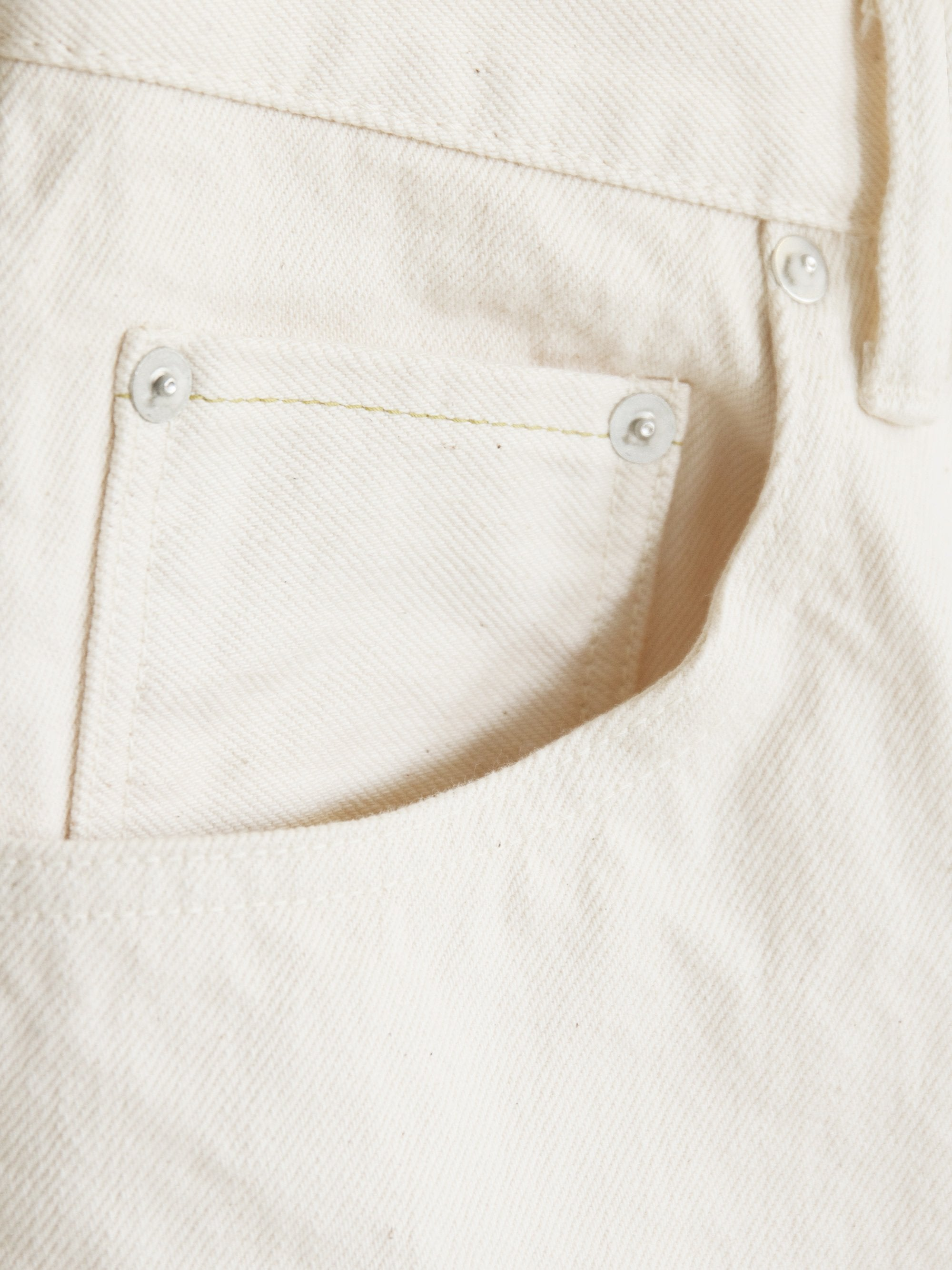 Namu Shop - Hatski Loose Tapered Denim - Ecru (re-stocked)