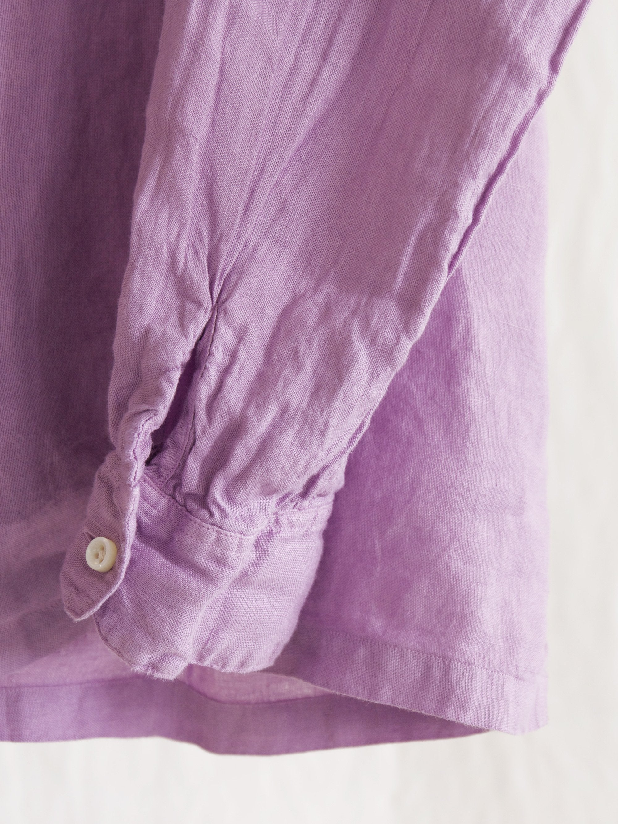 Namu Shop - Maillot Linen Open Shirt - Smoke Purple