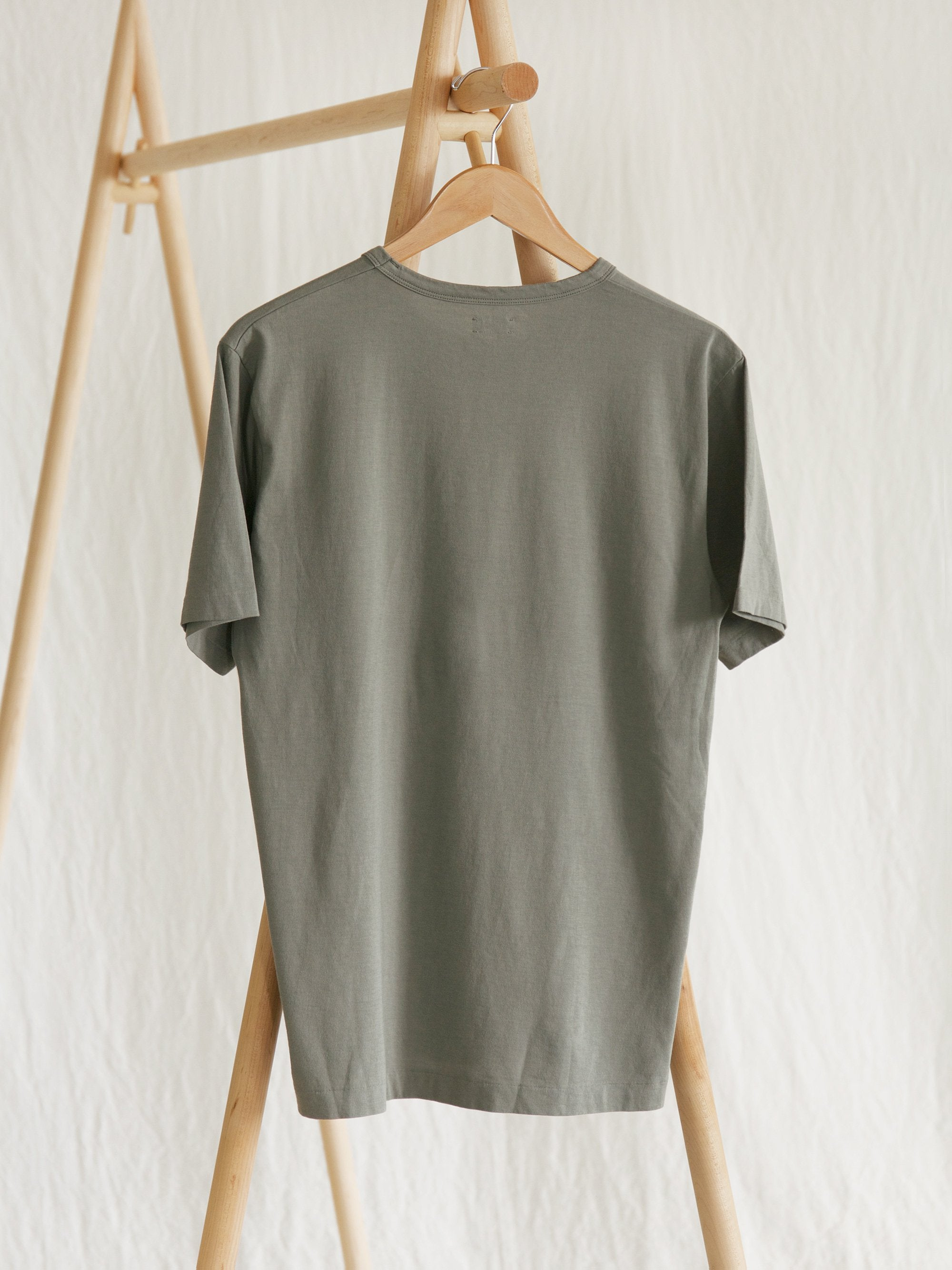 Namu Shop - Phlannel Light Suvin Cotton T-Shirt - Leaf Green (Women's)