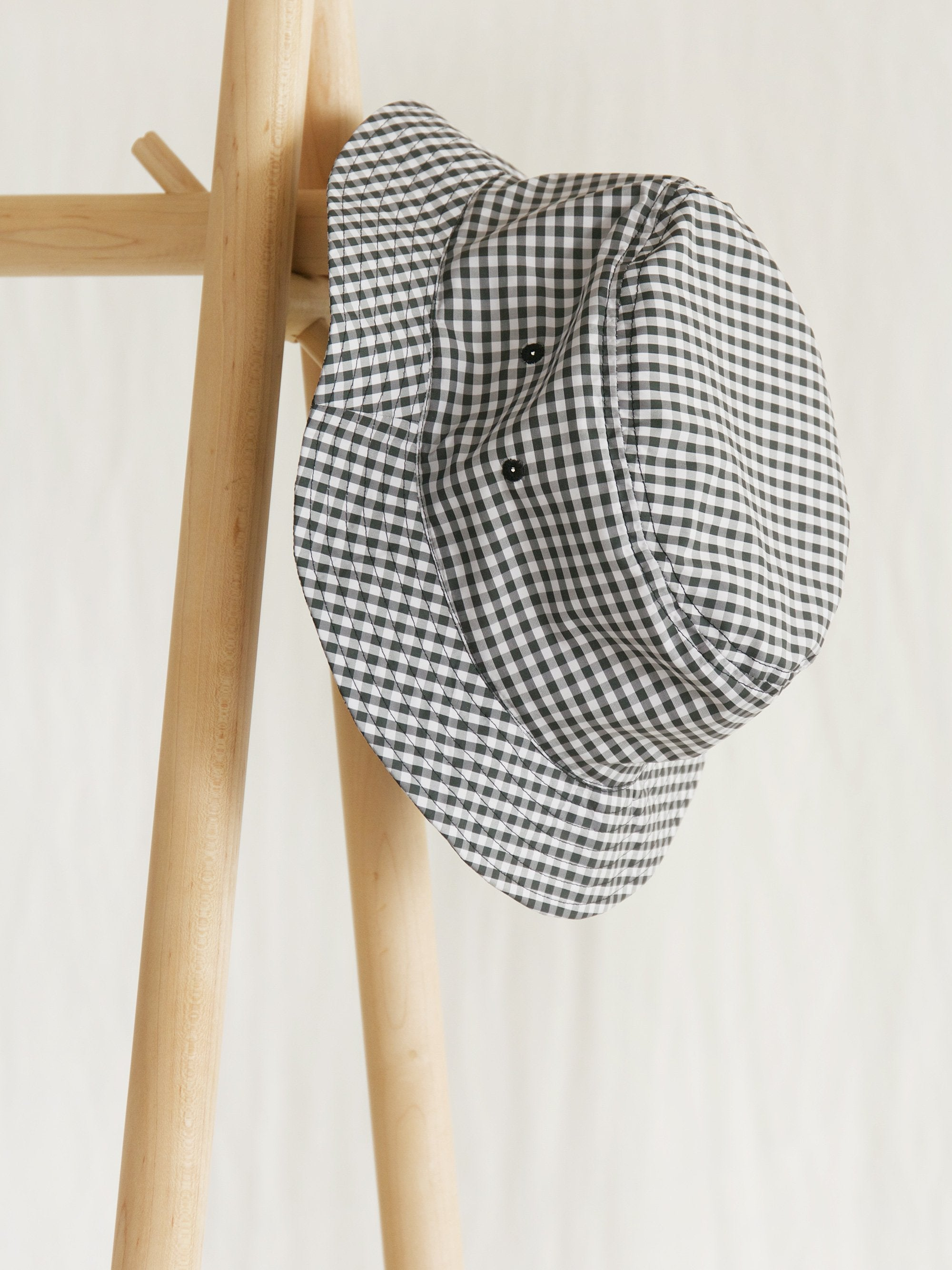 Namu Shop - paa Bucket Hat One - Charcoal Gingham
