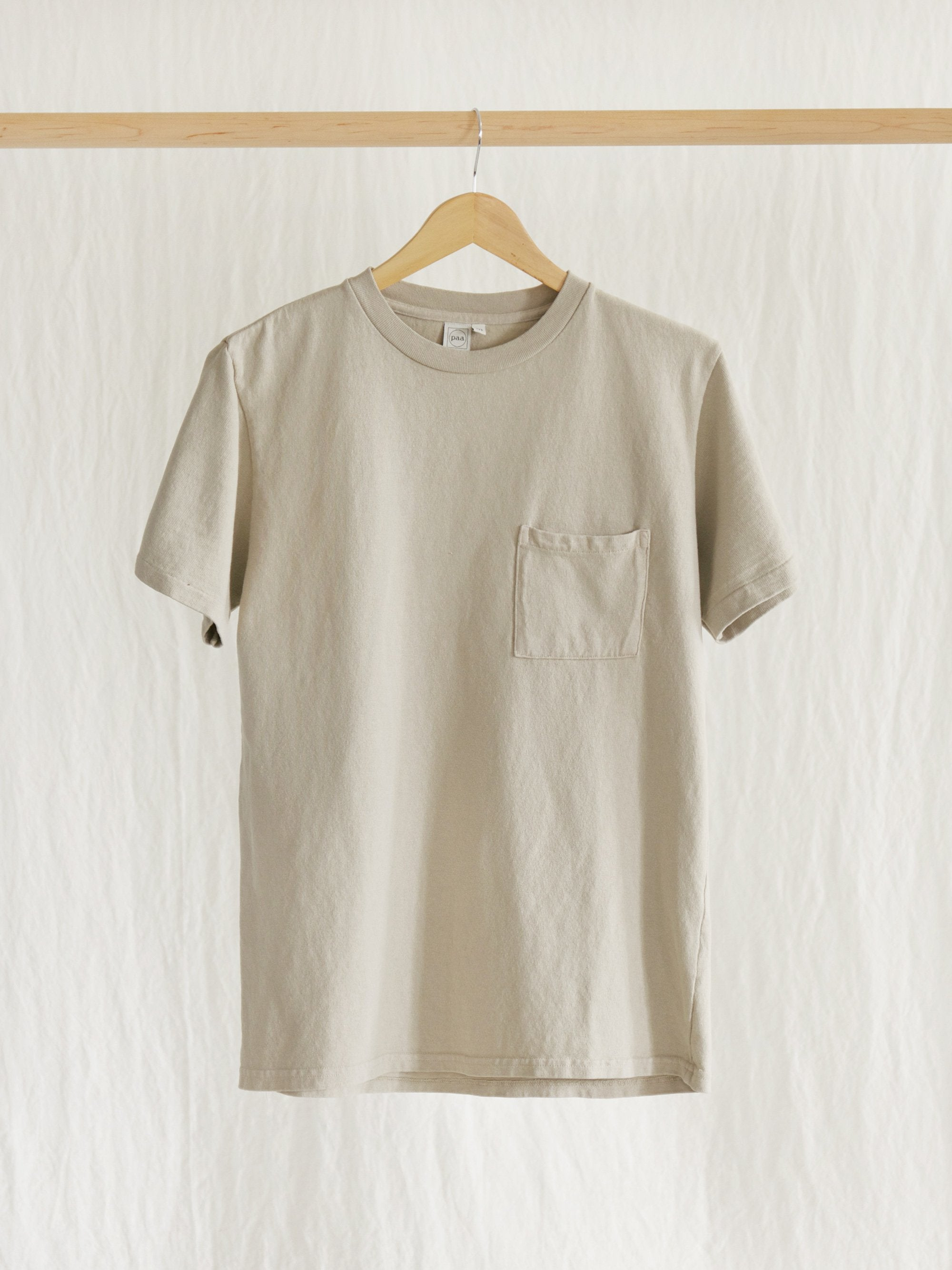 Namu Shop - paa SS Pocket Tee - Stone
