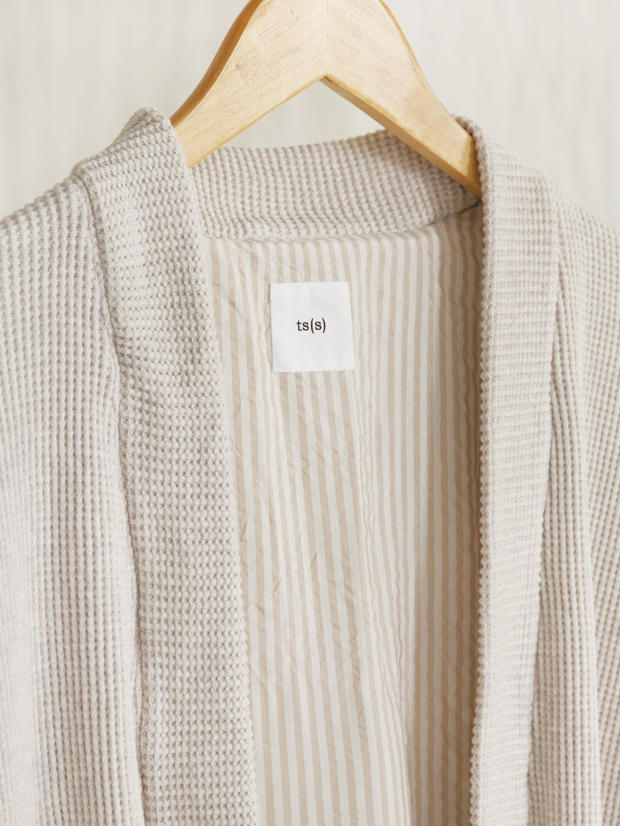 Namu Shop - ts(s) Waffle Jersey Lined Easy Cardigan (Re-stocked)