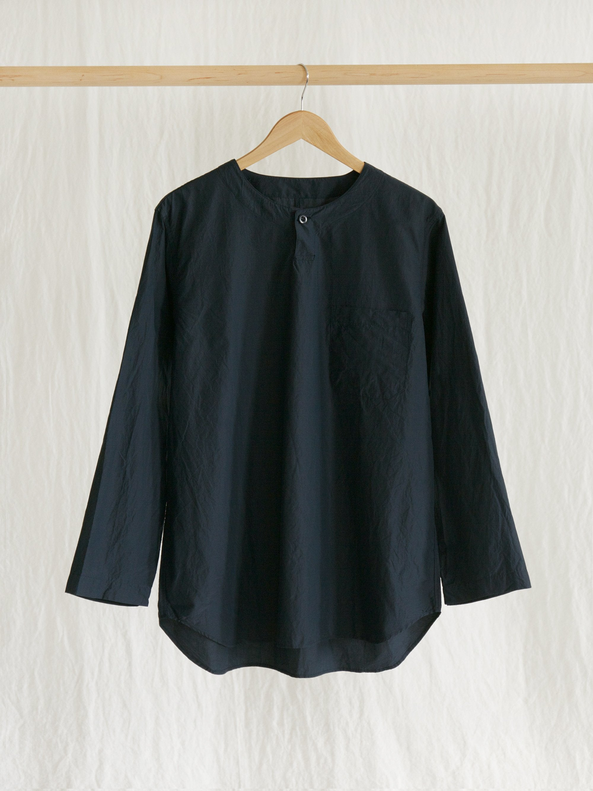 Namu Shop - ts(s) Cotton Silk Henley Neck Shirt