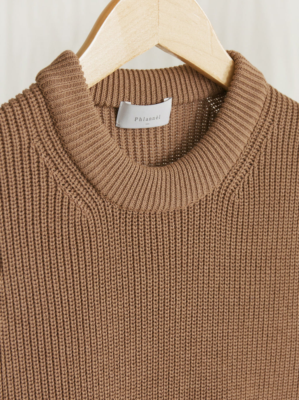 Namu Shop - Phlannel Washi/Silk Crew Neck Knit Vest - Almond