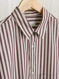 Namu Shop - Phlannel Regular Collar Over Shirt - Stripe