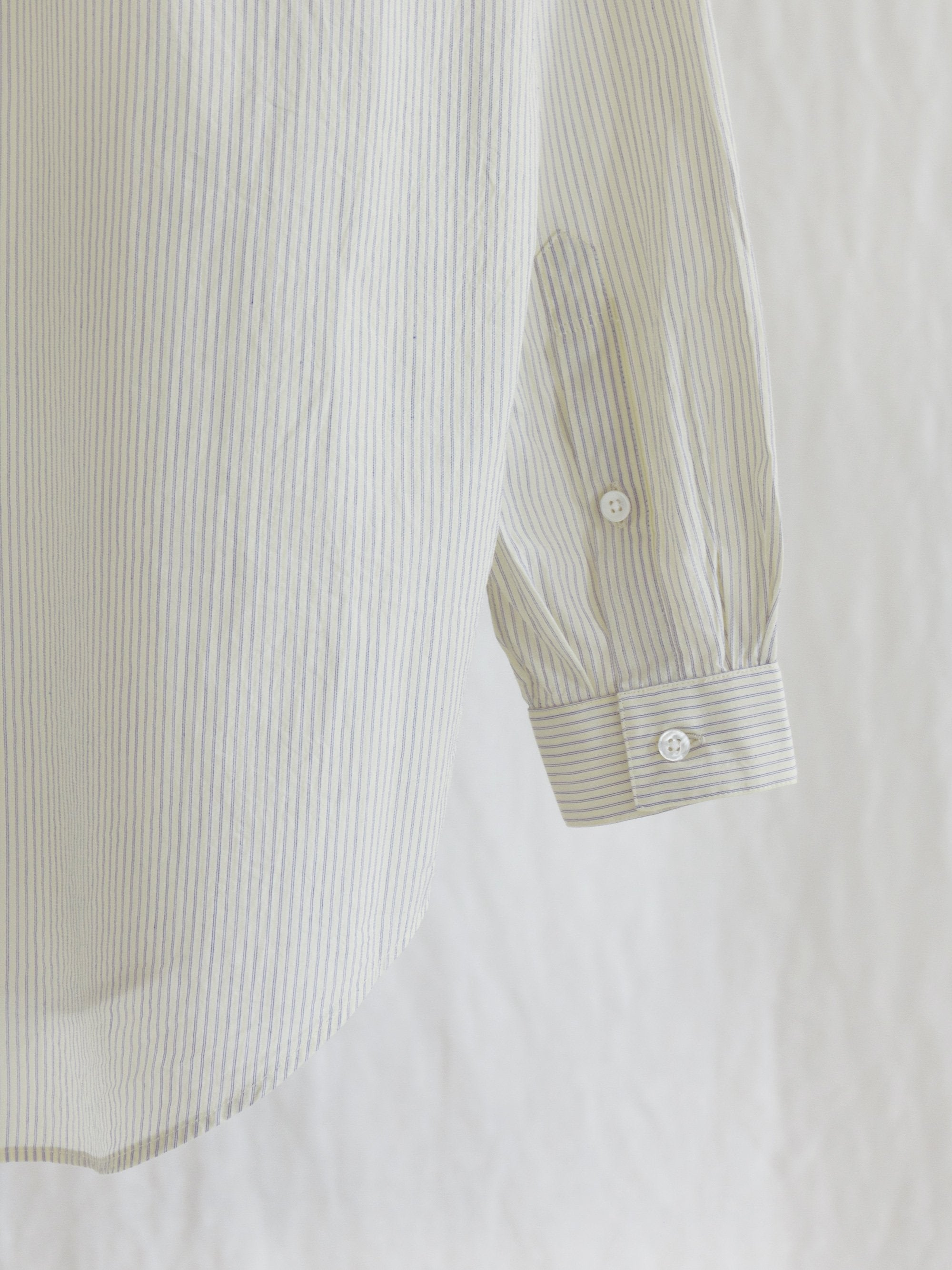 Namu Shop - Phlannel Stripe Poplin Regular Collar Shirt