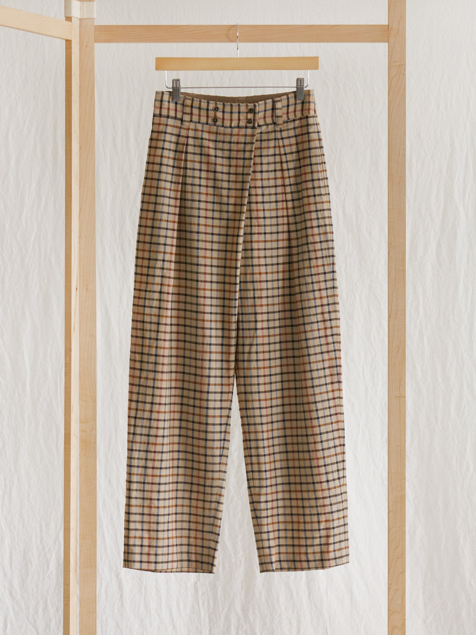 Namu Shop - Phlannel Cotton Alpaca Lawn Three Tuck Easy Trousers