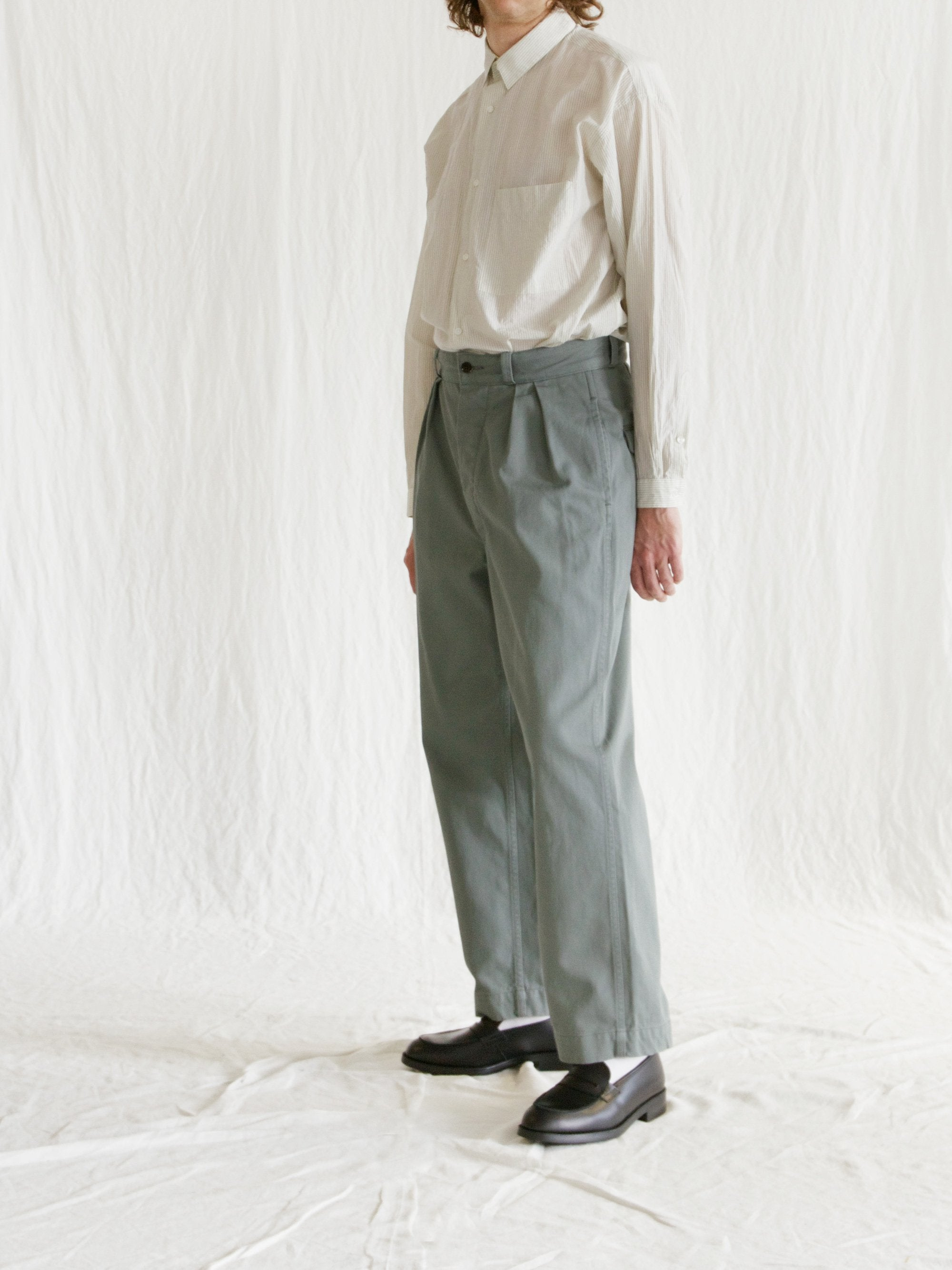 Namu Shop - Phlannel Cool Cotton Chino Fatigue Trousers
