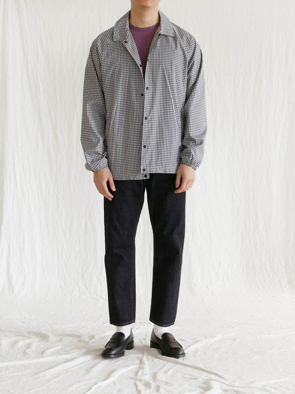 Namu Shop - paa Spectators Jacket - Charcoal Gingham