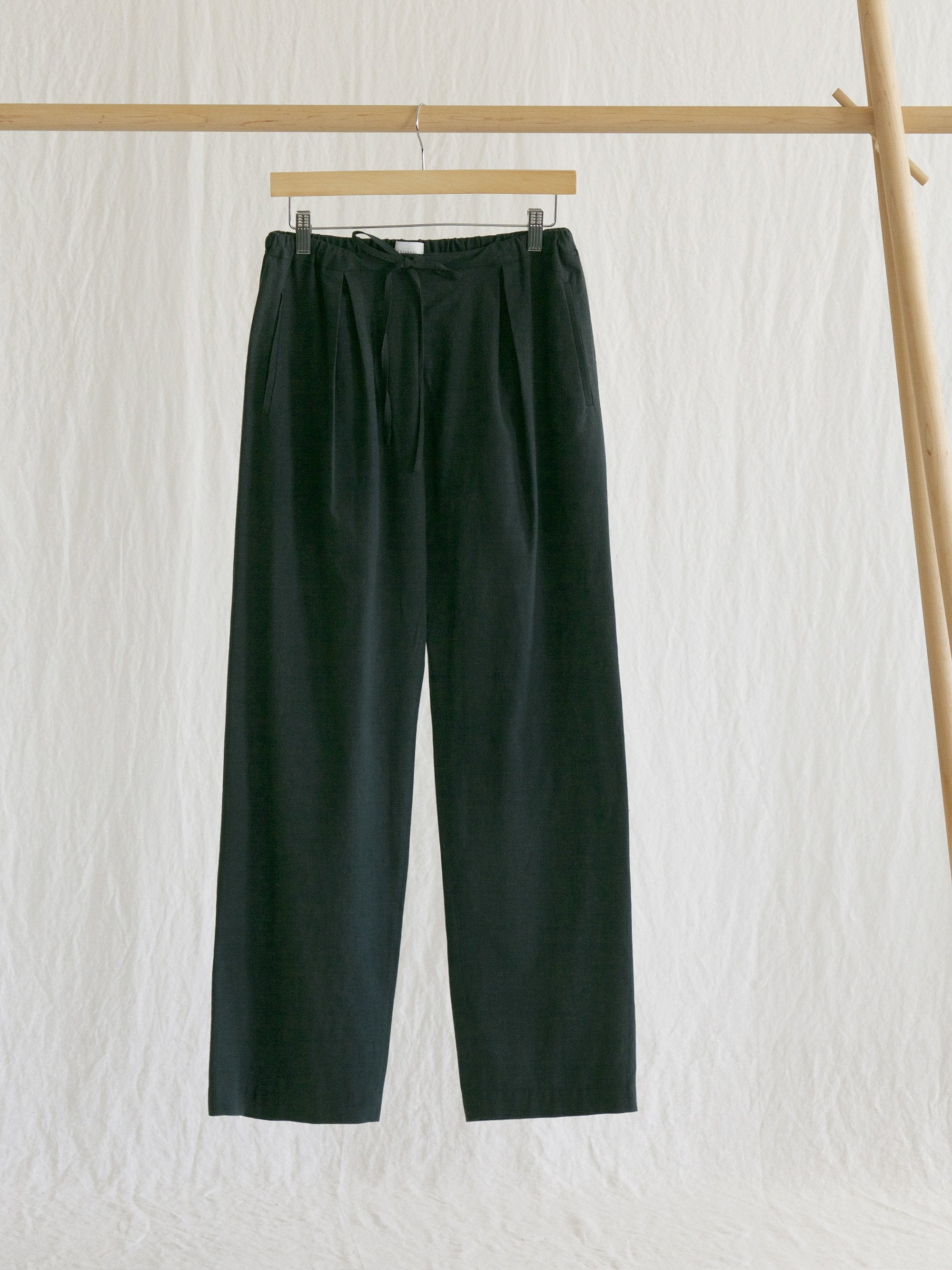 Namu Shop - Phlannel Cotton Alpaca Lawn Easy Trousers - Dark Green